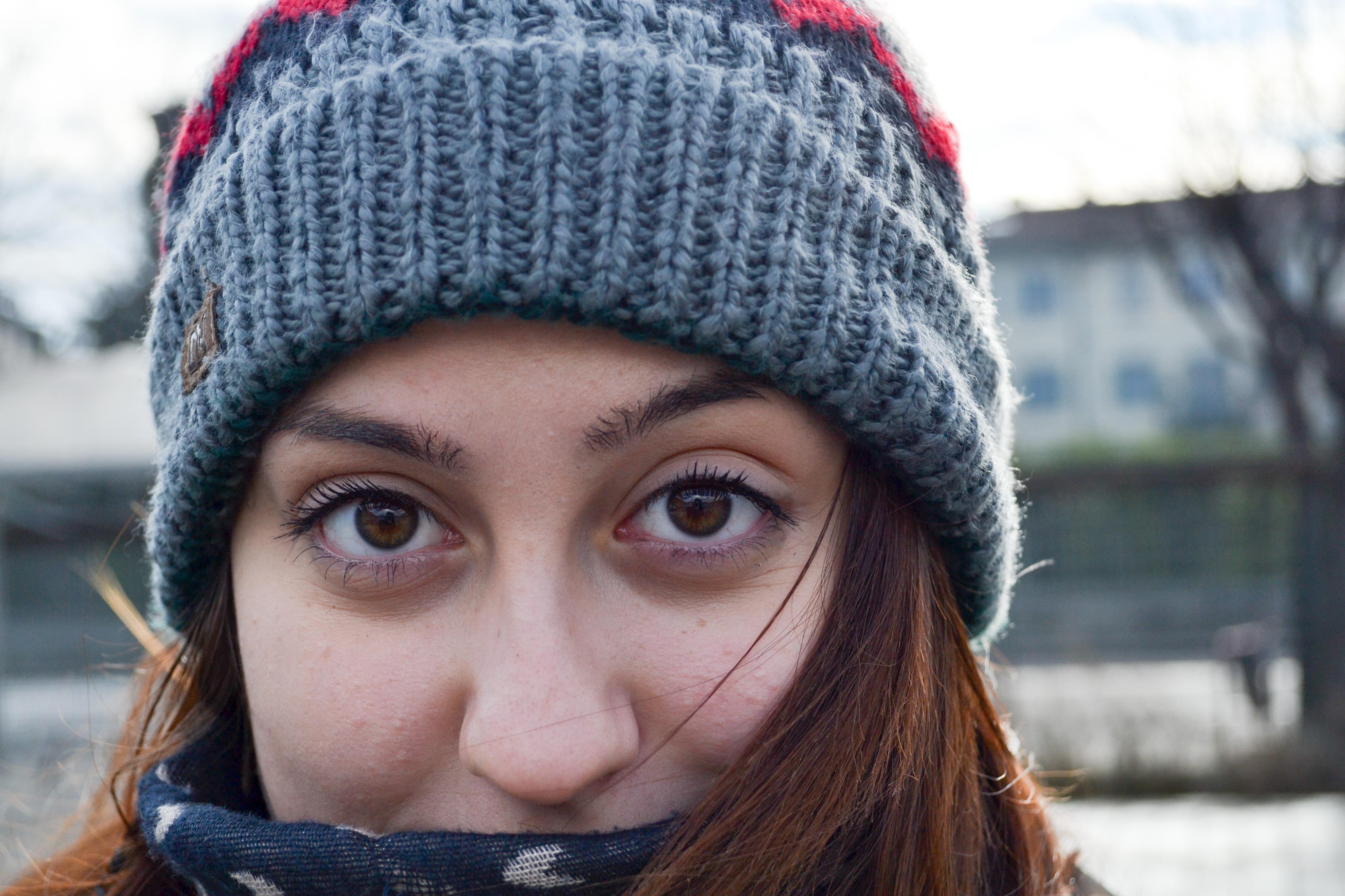 Fotos gratis : invierno, niña, retrato, modelo, color, sombrero ...