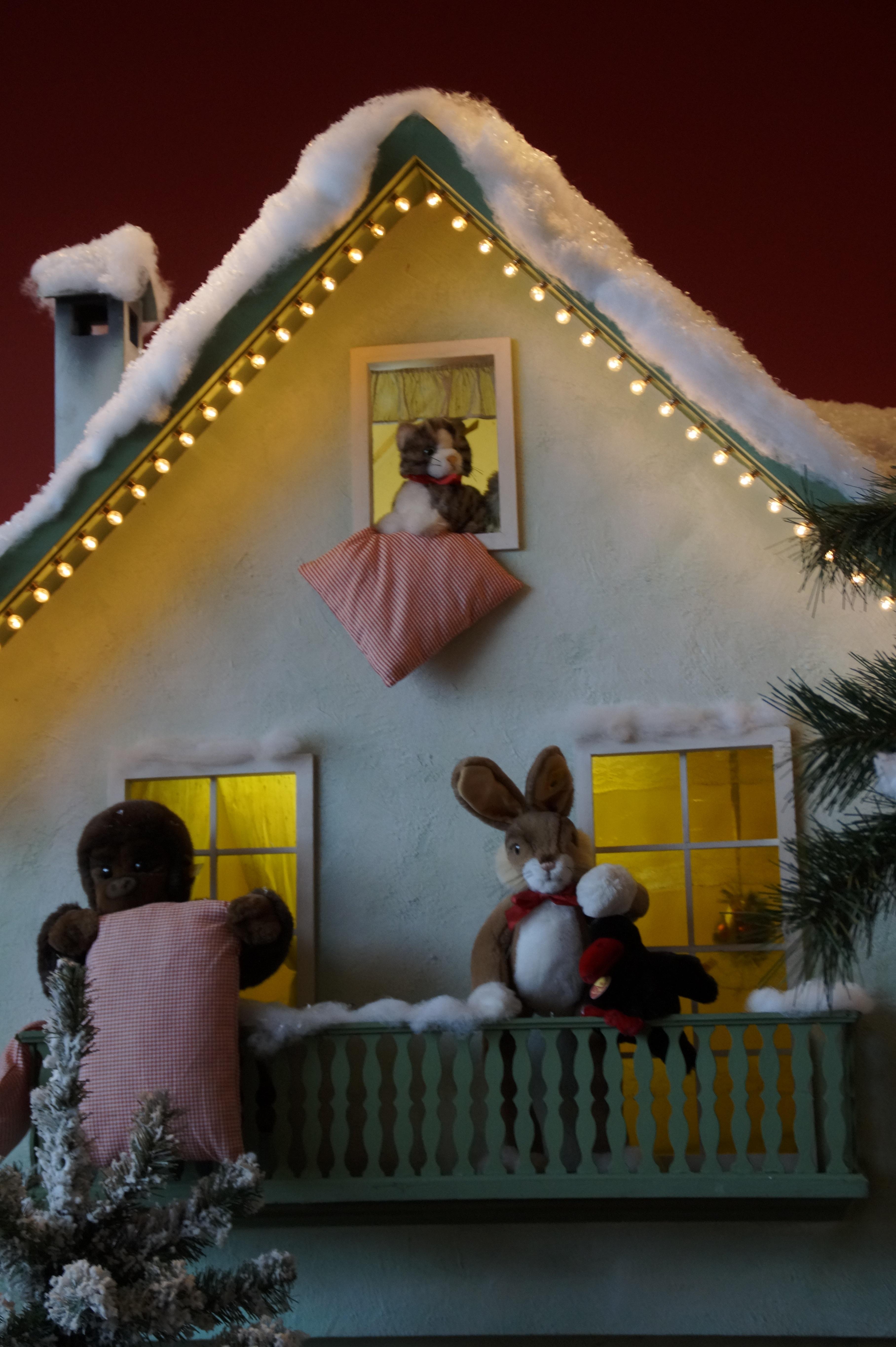 Haus Beleuchten kostenlose foto winter haus zuhause dekoration museum katze