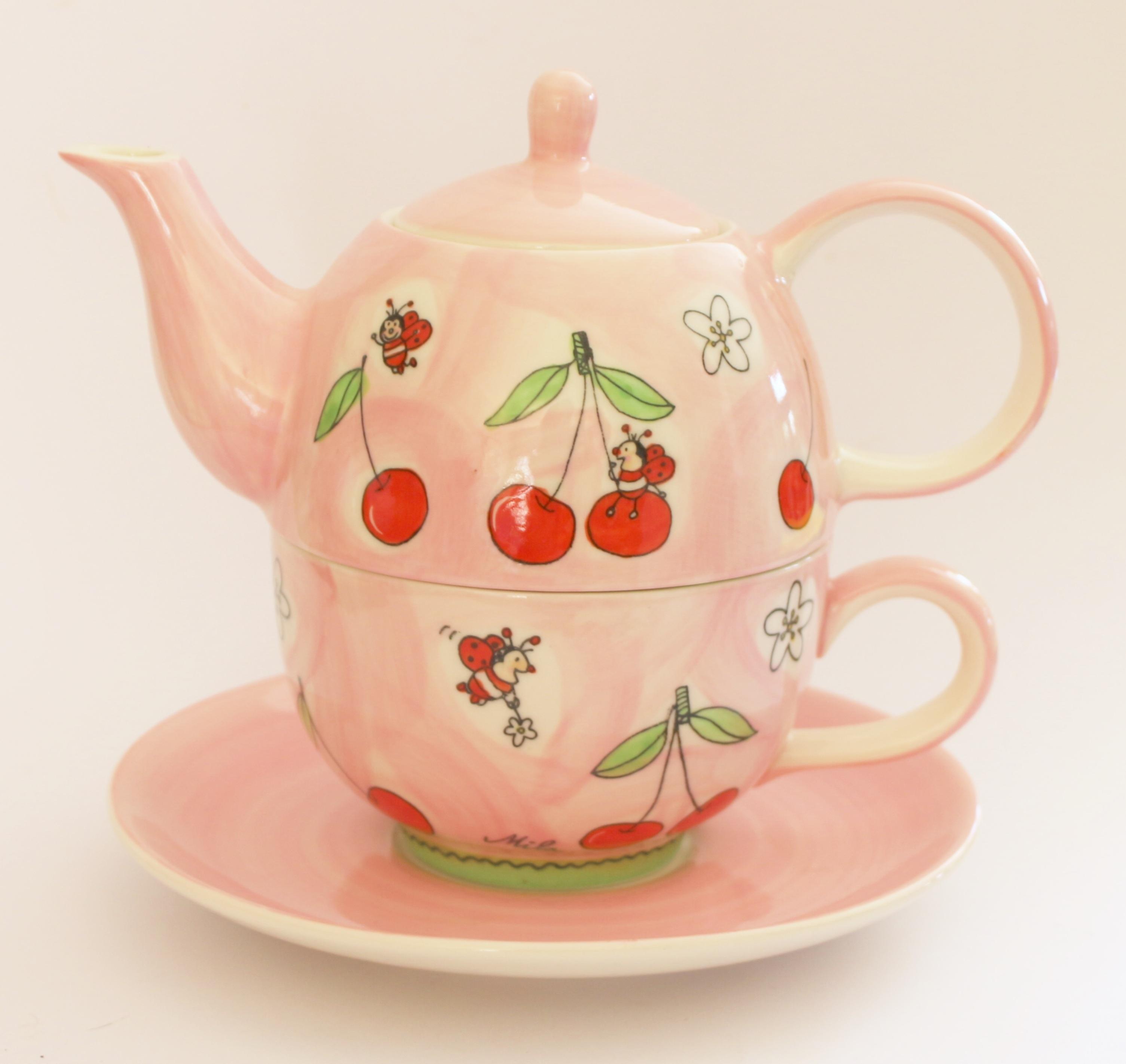 8f5d9ca1a363 зима чай заварочный чайник кружка Блюдце Керамический чайник Розовый  Кофейная чашка посуда кувшин Изобразительное искусство фарфор