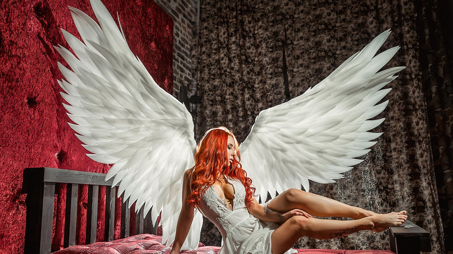 Картинки девушек ангелов на обои