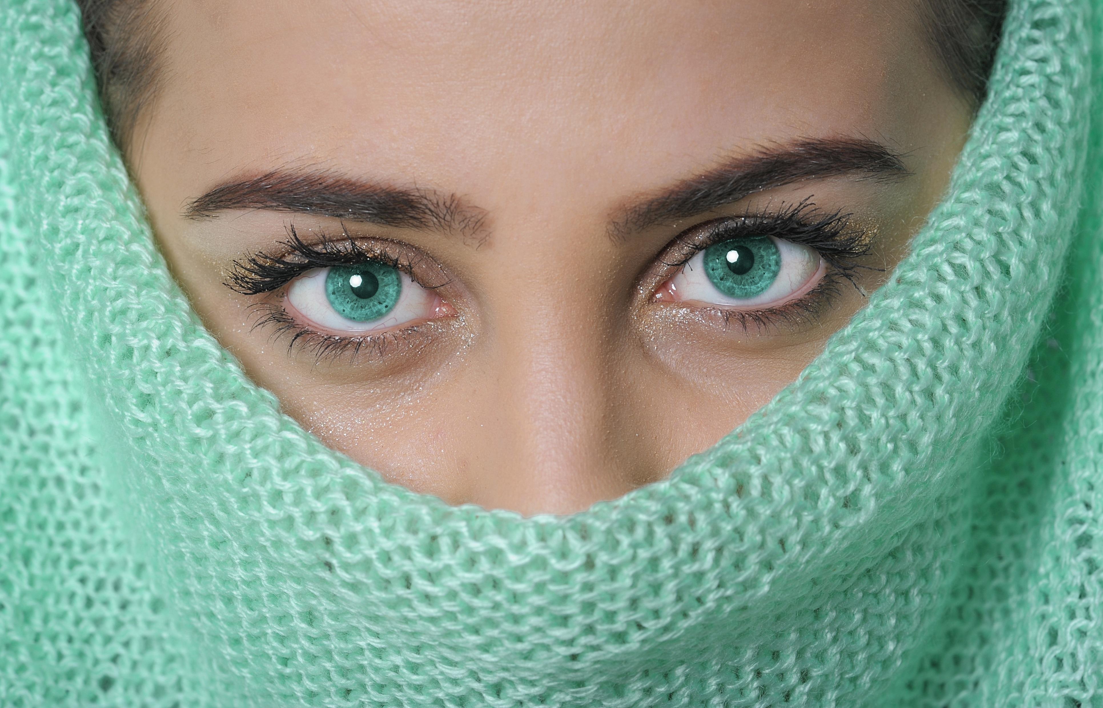 Free Images Female Portrait Green Color Clean Blue Lip
