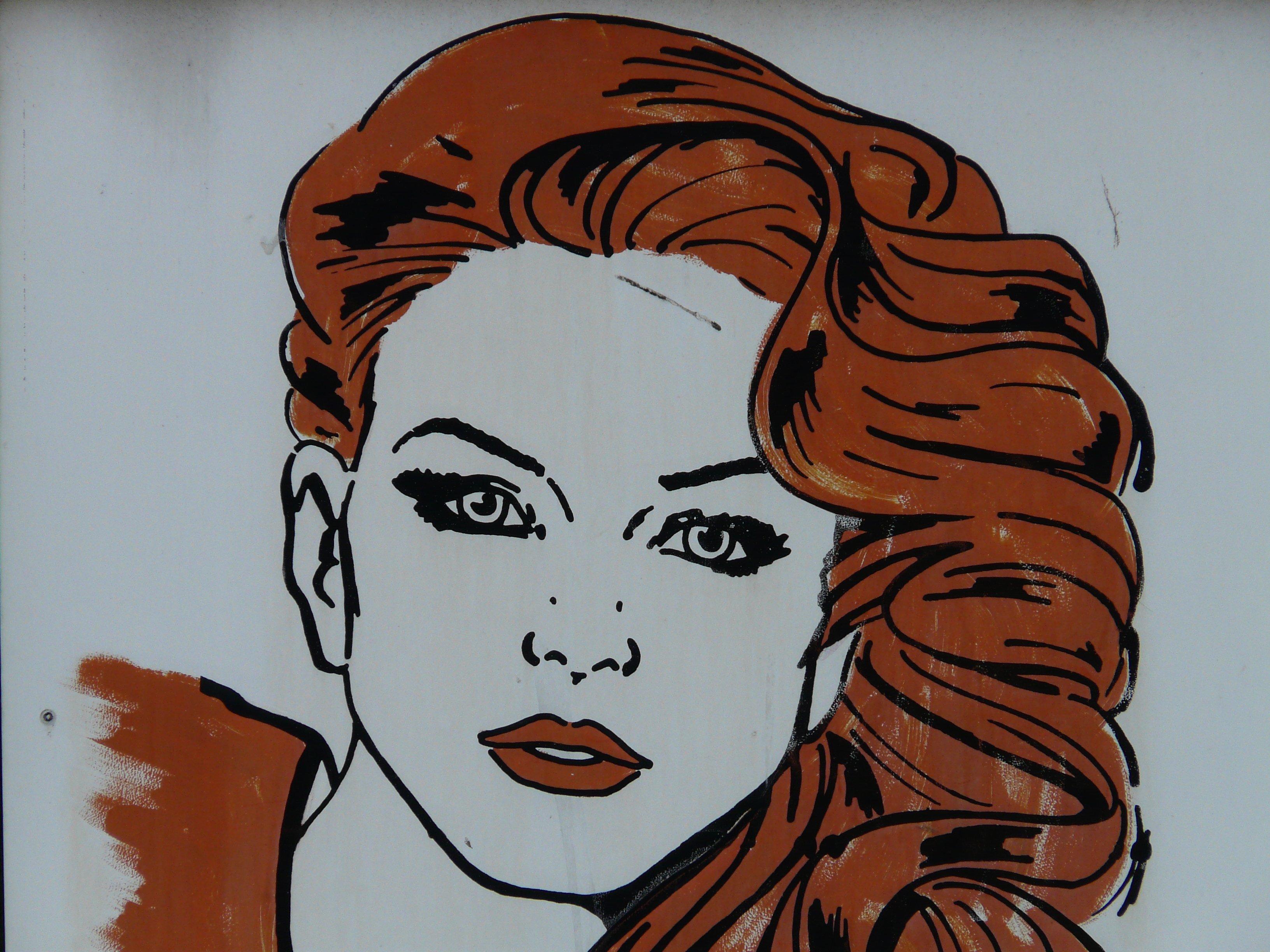 Gambar Wanita Rambut Warna Hairstyle Mulut Menghadapi
