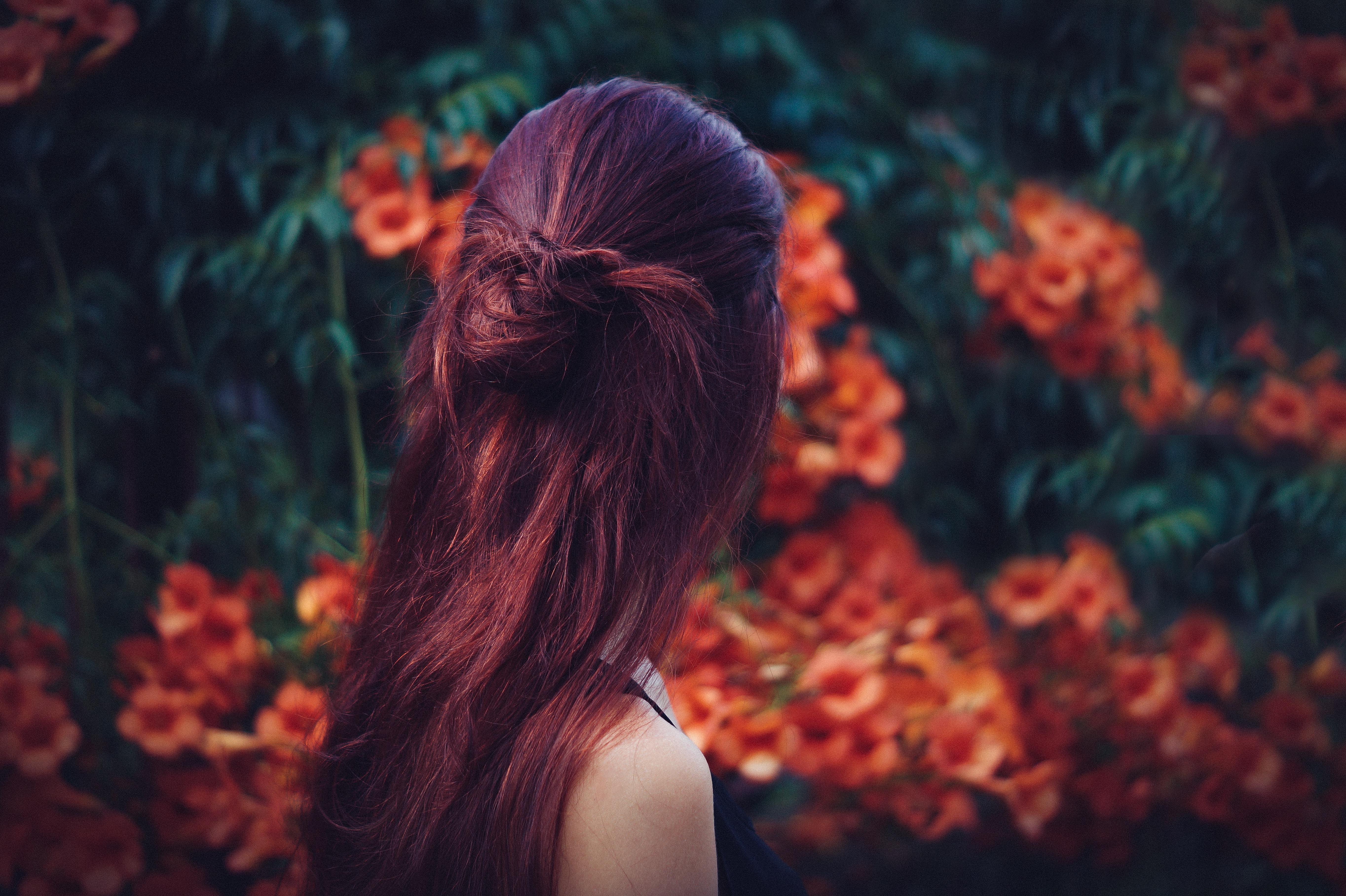 Poze Femeie Par Floare Femeie Roșu Culoare Toamnă