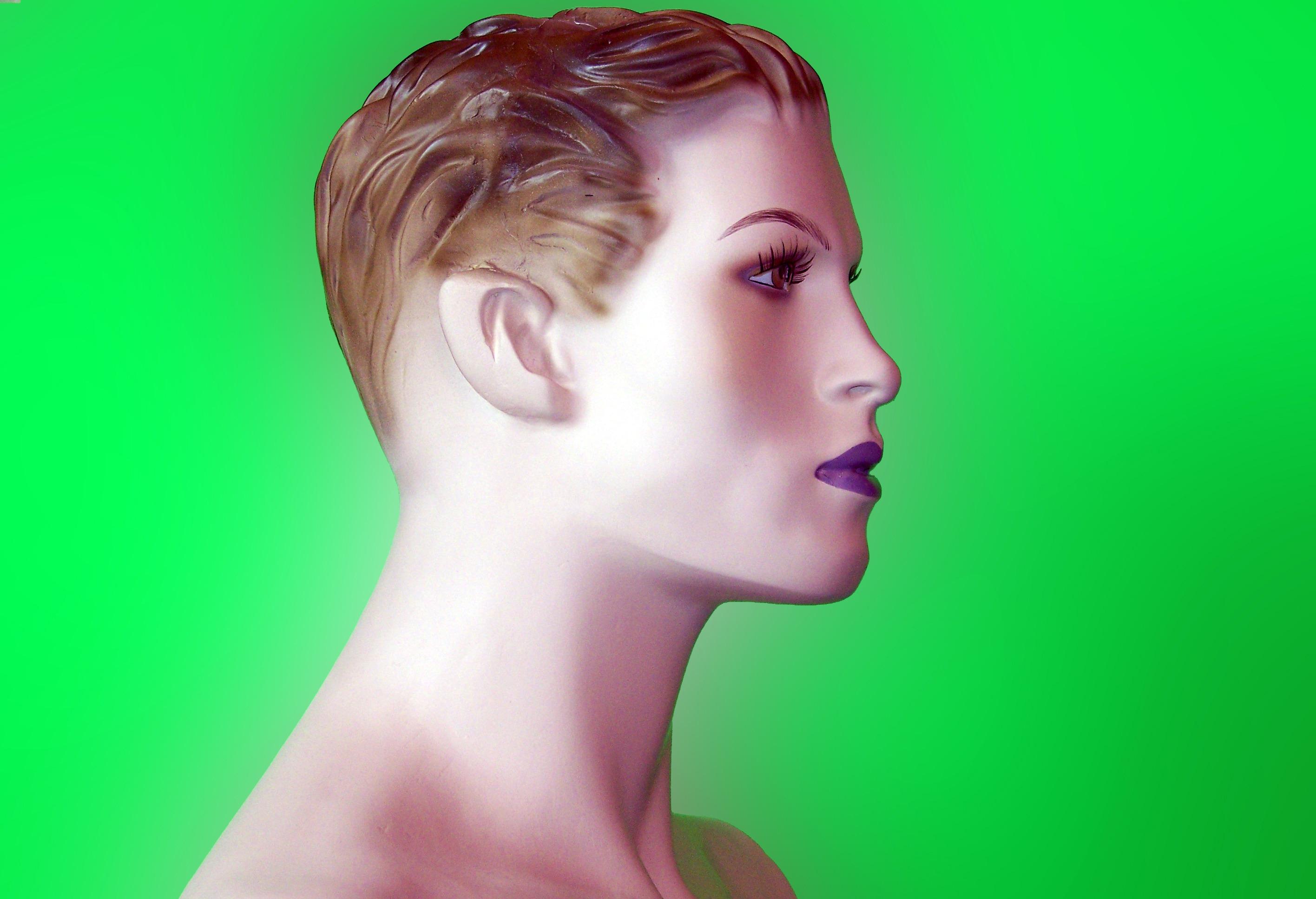 Haare rosa grun