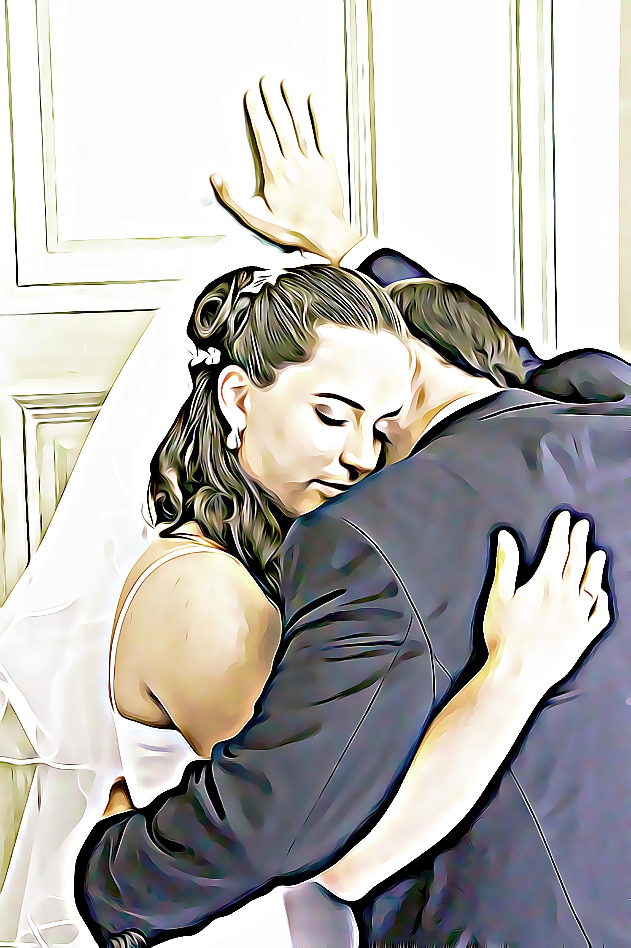 Gambar Wanita Cinta Pernikahan Pengantin Ilustrasi Digital