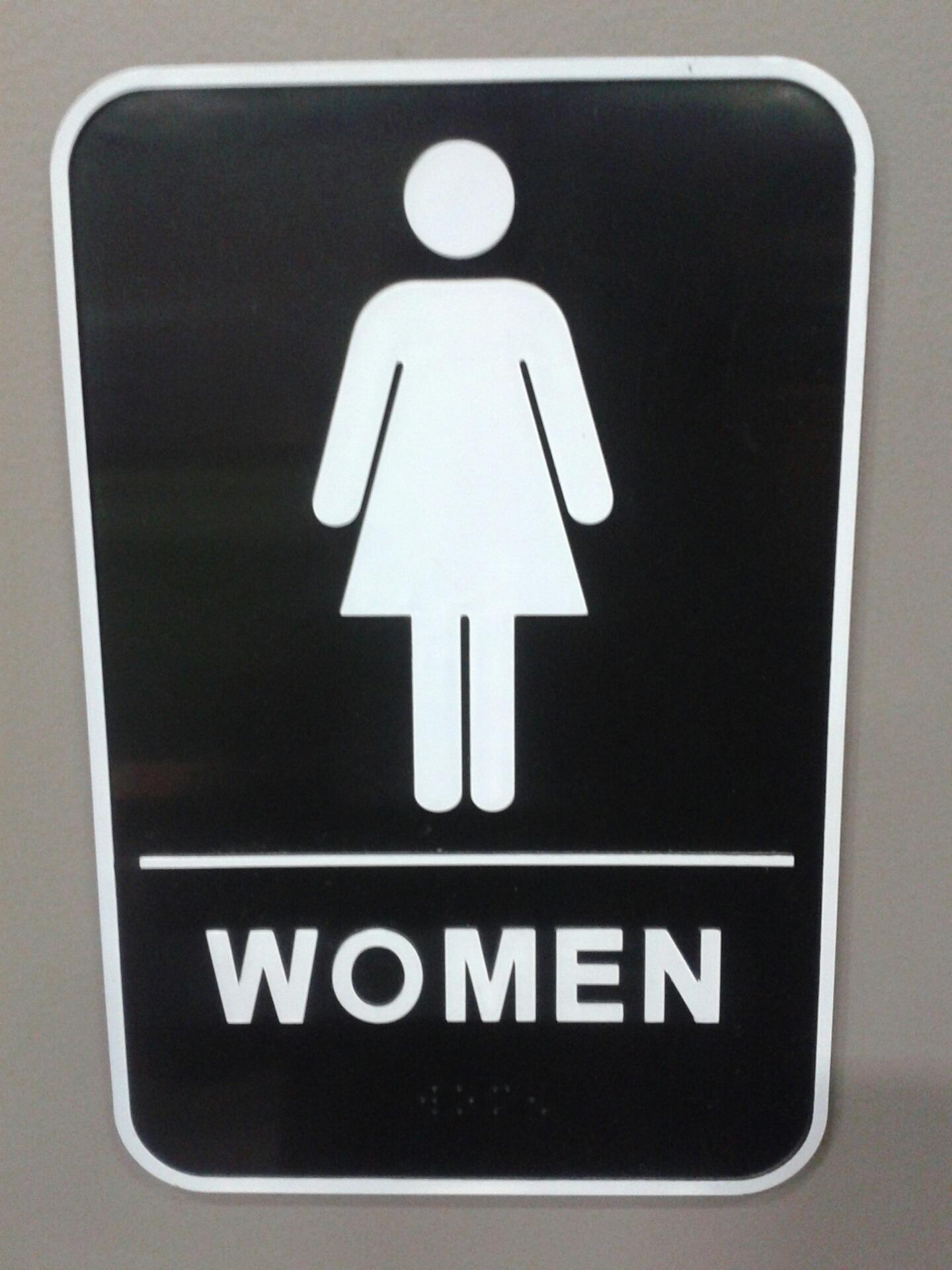 Wanita Jumlah Tanda Simbol Signage Label Merek R Mandi Fon Eksterior Otomotif Kendaraan Plat Rumah