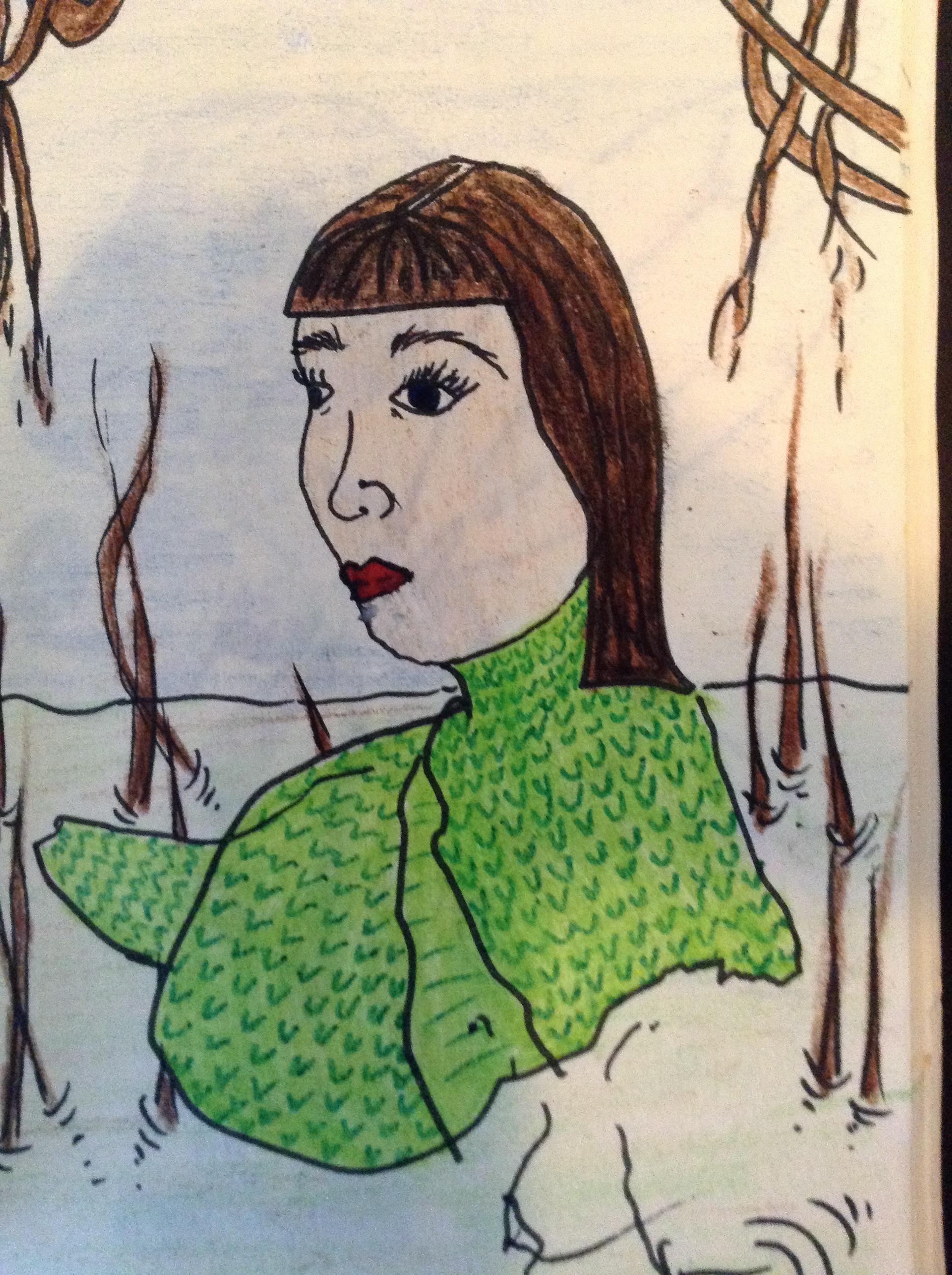Gambar Wanita Lukisan Sketsa Ilustrasi Dewasa Gambar Kartun