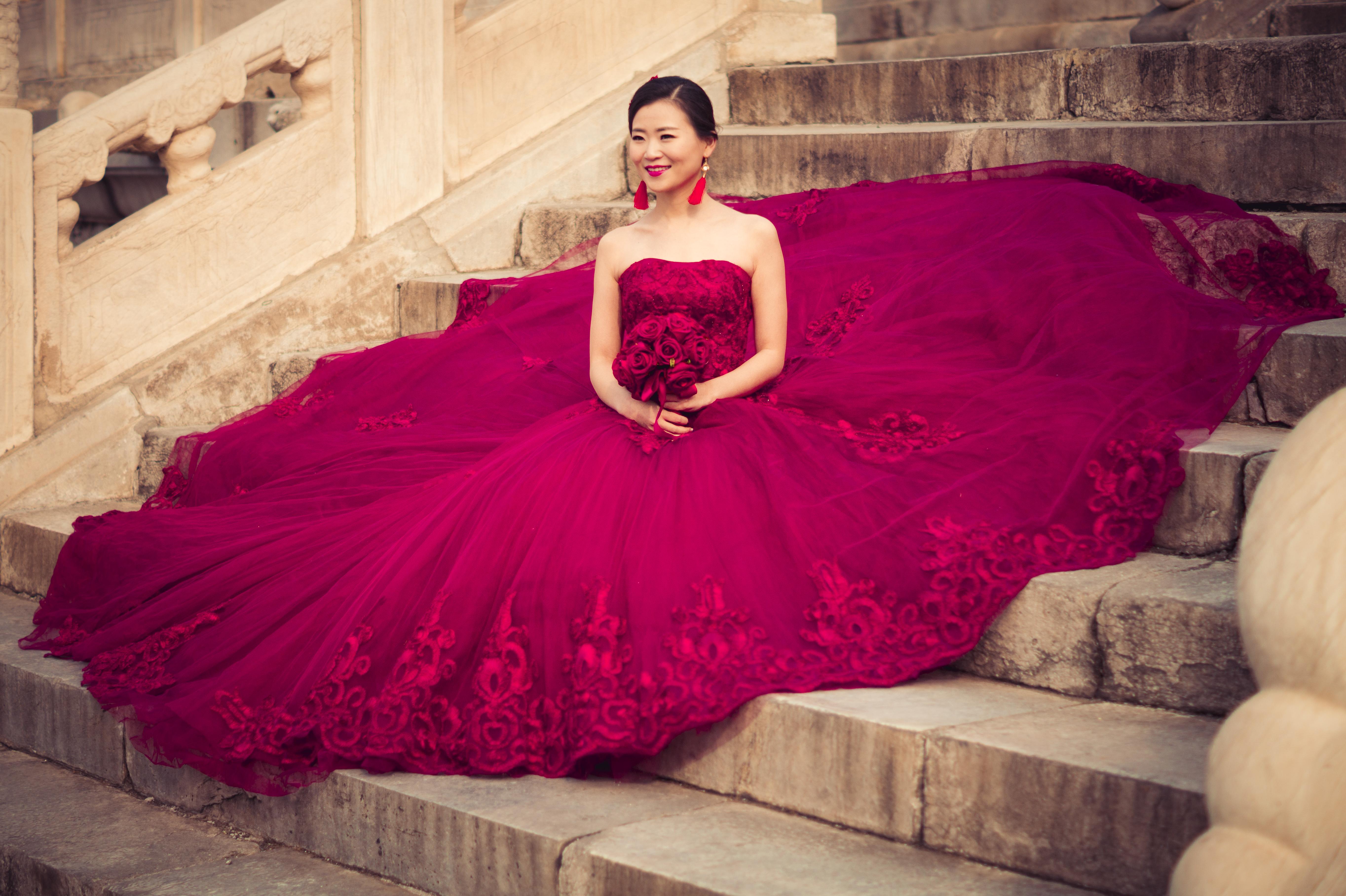 Kostenlose foto : Frau, Fotografie, Modell-, rot, Mode, Rosa ...