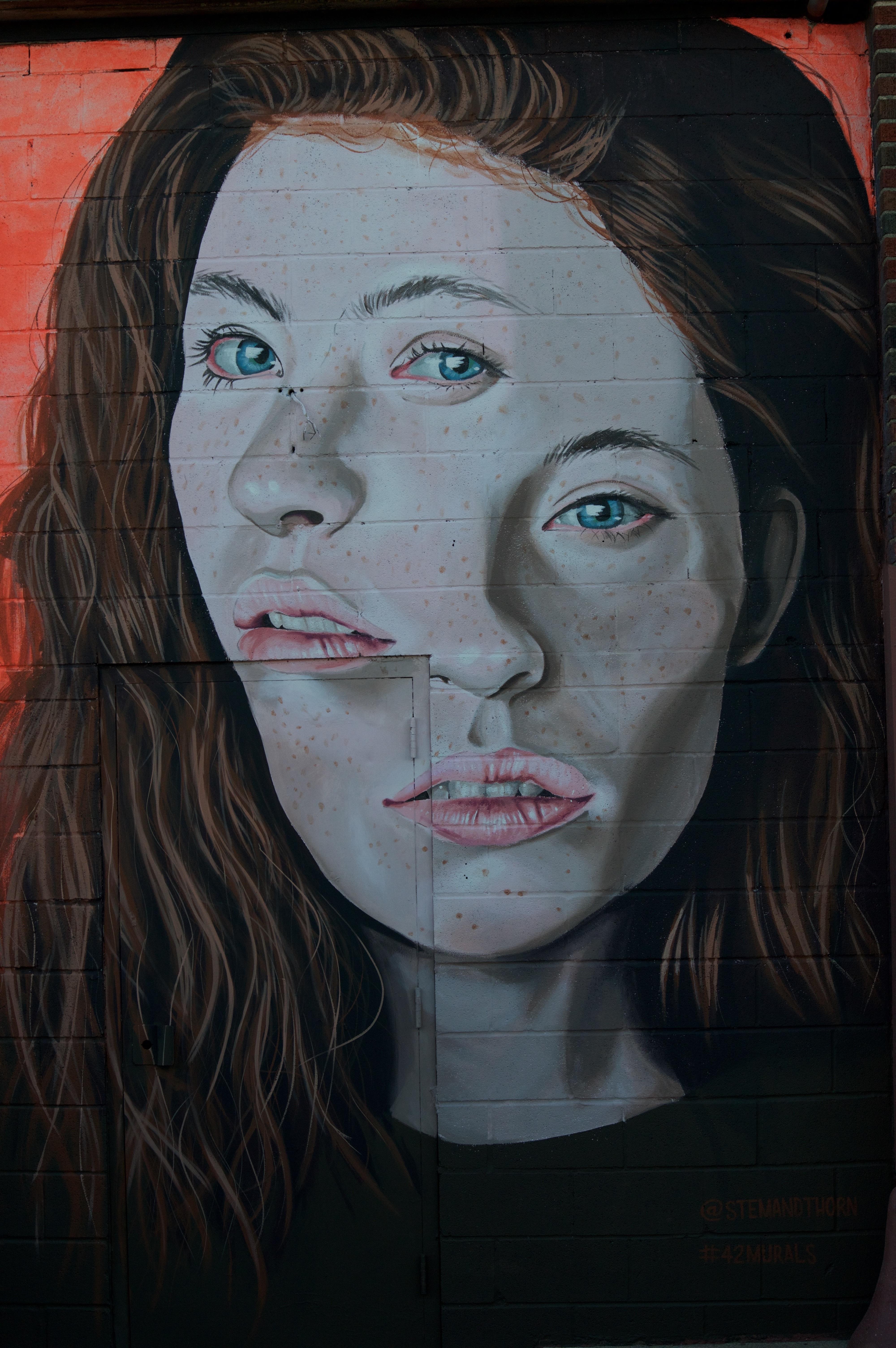 Fotoğraf Kadın Portre Renk Boyama Yüz Eskiz çizim