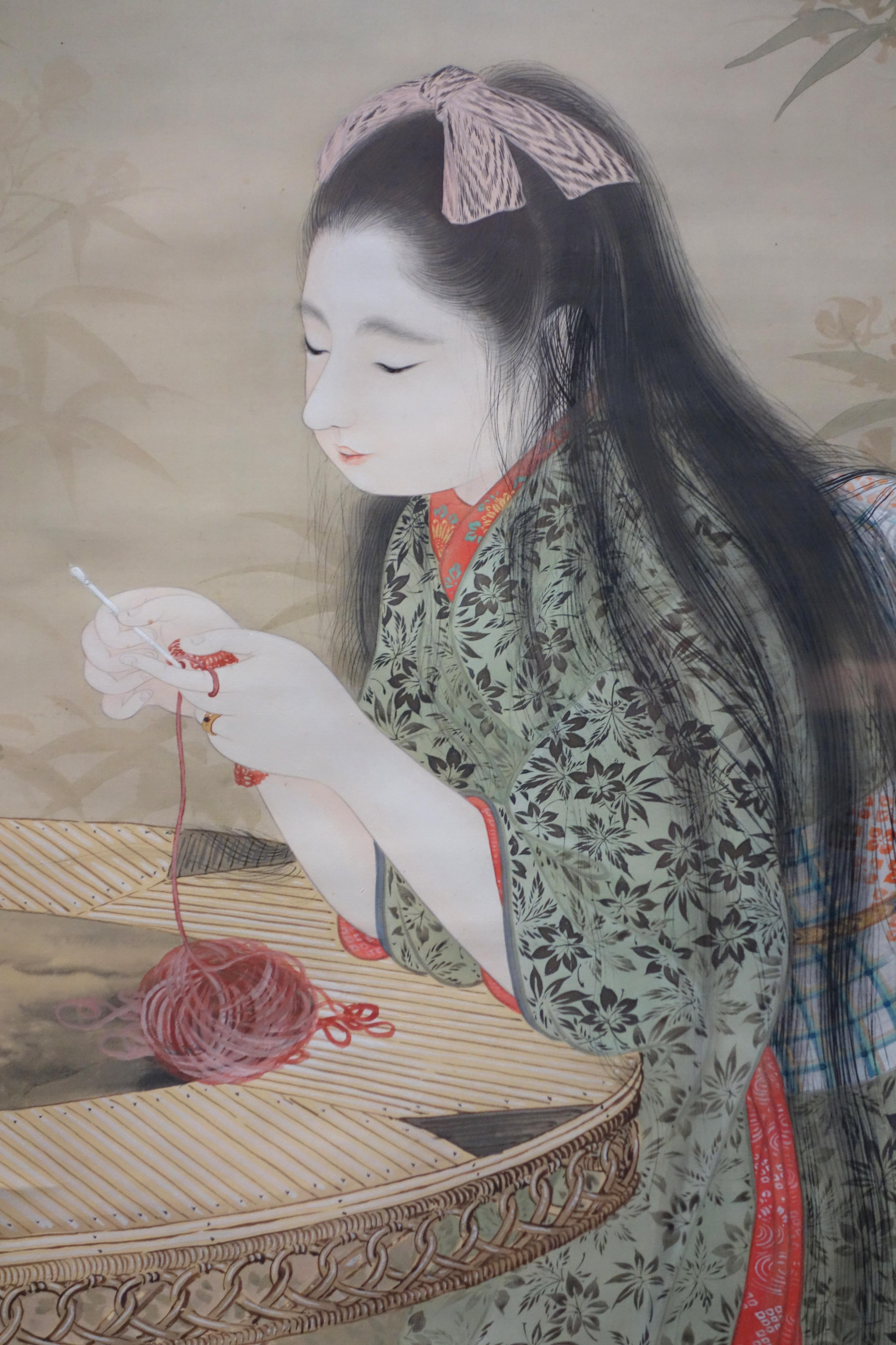 Gambar Wanita Potret Musim Semi Merah Museum Karya Seni