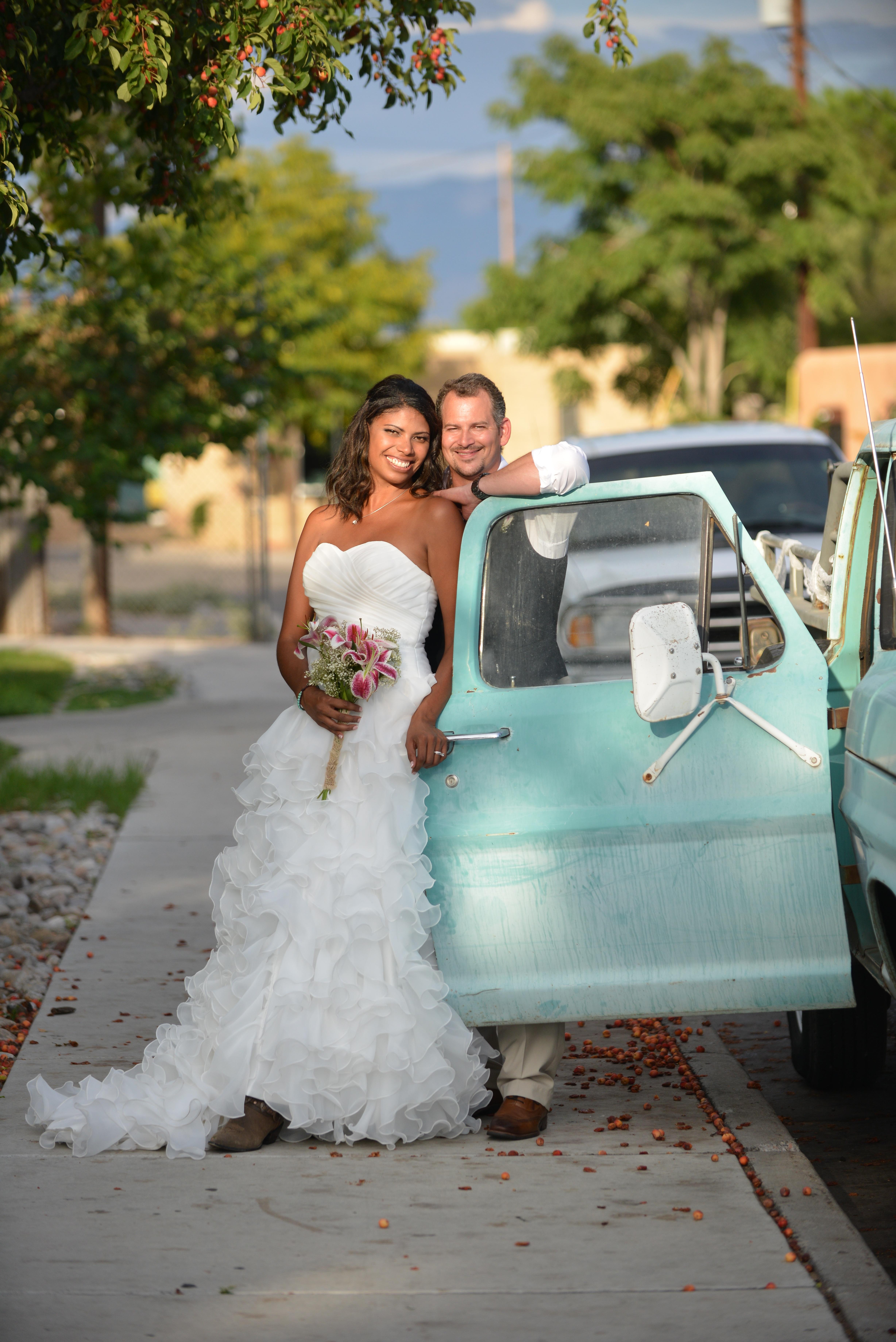 Fotos gratis : mujer, vendimia, celebracion, camión, romance, Boda ...