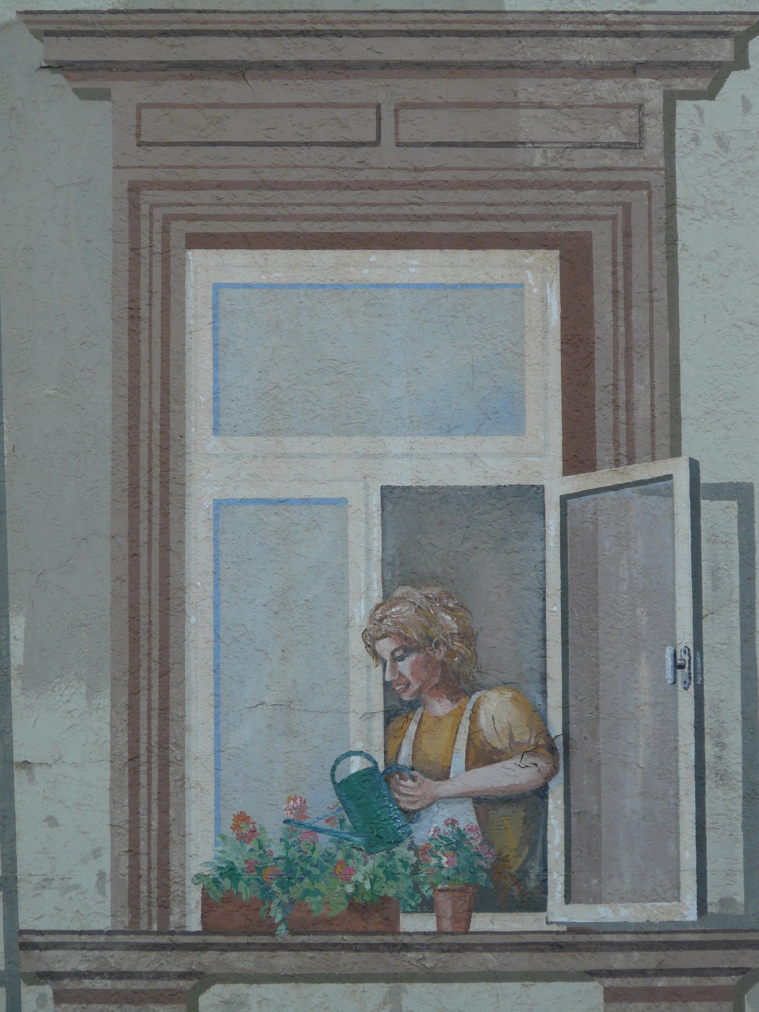 Free Images : woman, window, wall, door, interior design, art ...