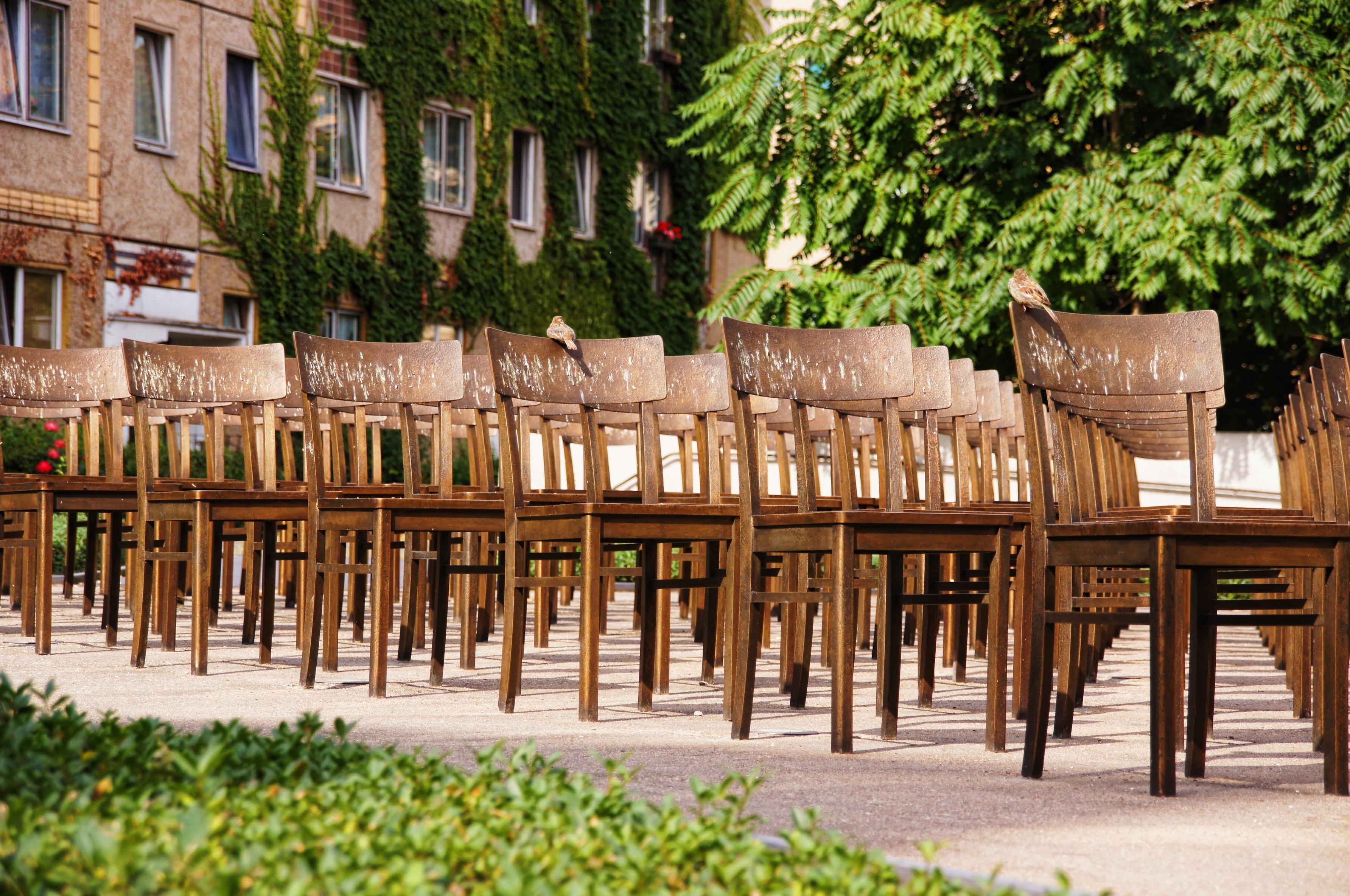 Wood Backyard Religion Furniture Garden Artwork Places Of Interest Chairs Art Courtyard Leipzig Bronze Estate Synagogue