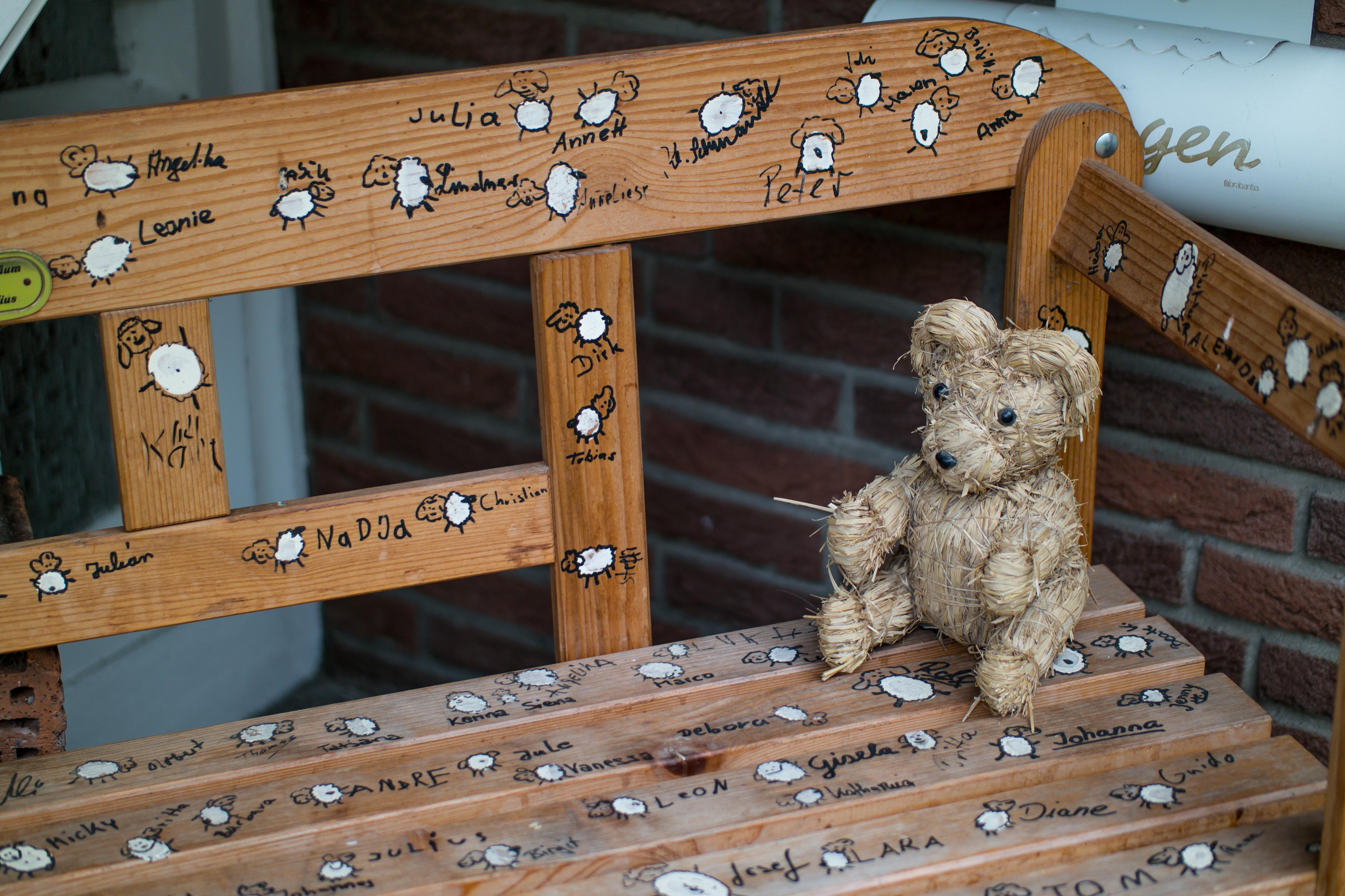 Wood Bear Sheep Furniture Lamb Sit Bank Sch Fchen