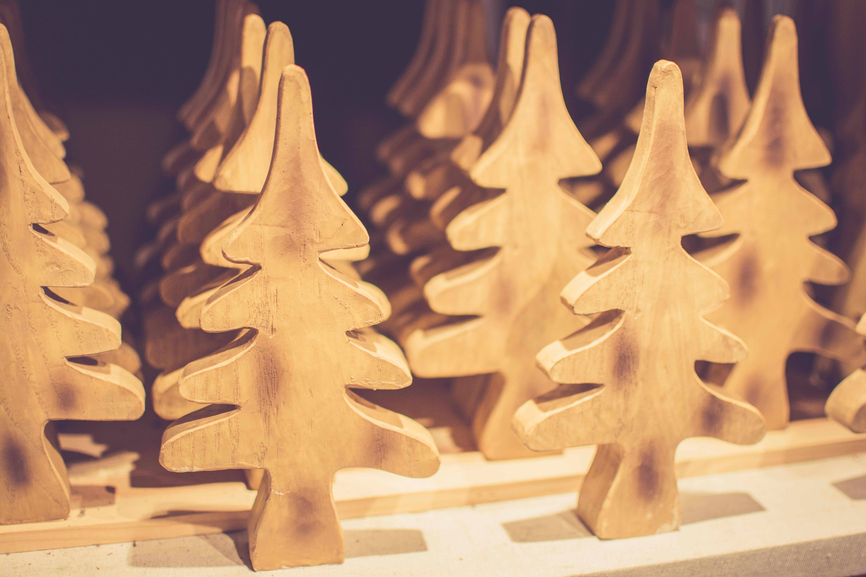 Holz Weihnachten Beleuchtung Weihnachtsbaum Weihnachtsdekoration Carving
