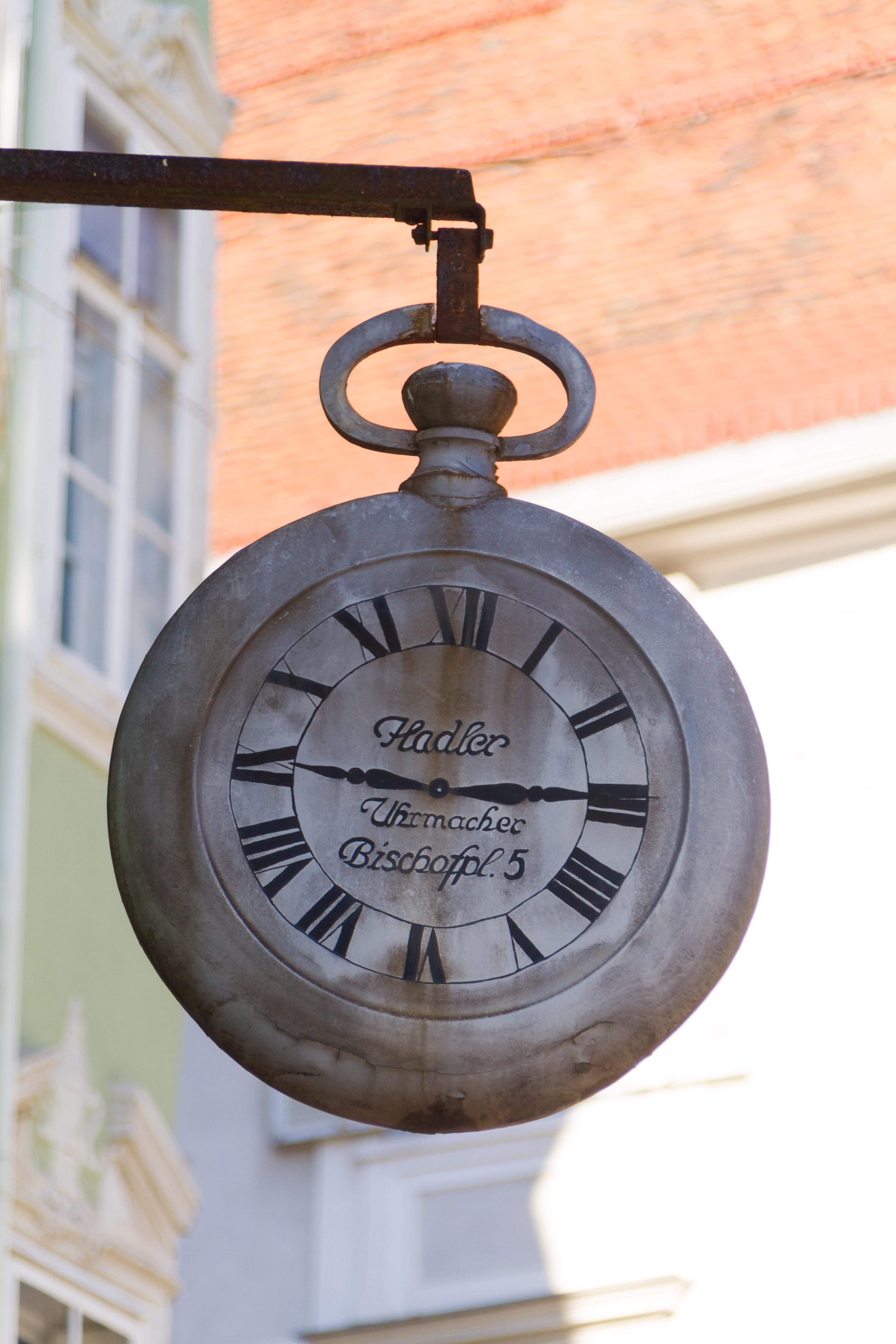 kayu jam tua penerangan Jam dinding angka Romawi buatan objek 90f0bdabb7
