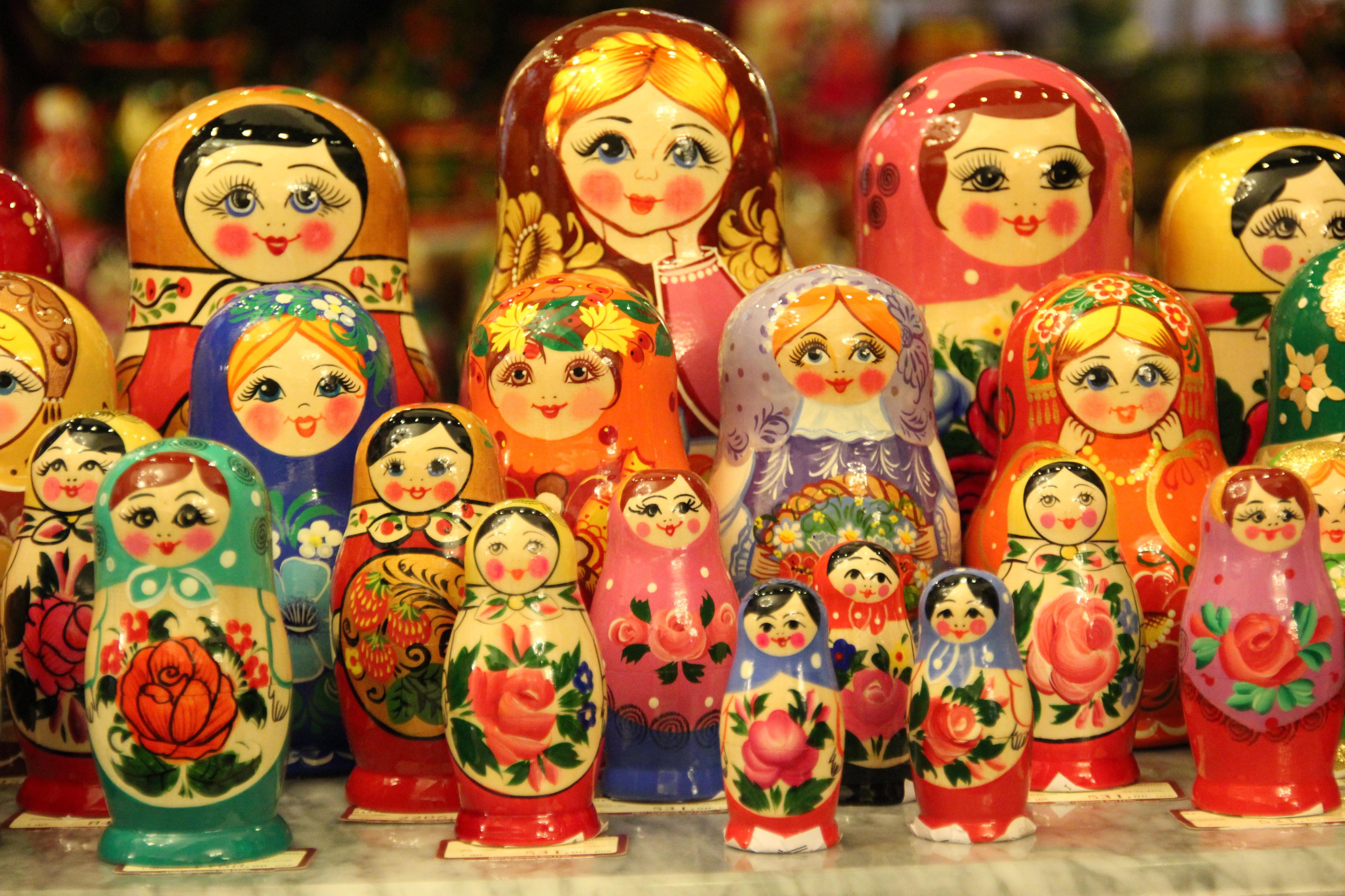 Февраля дорогой, картинки матрешек русских