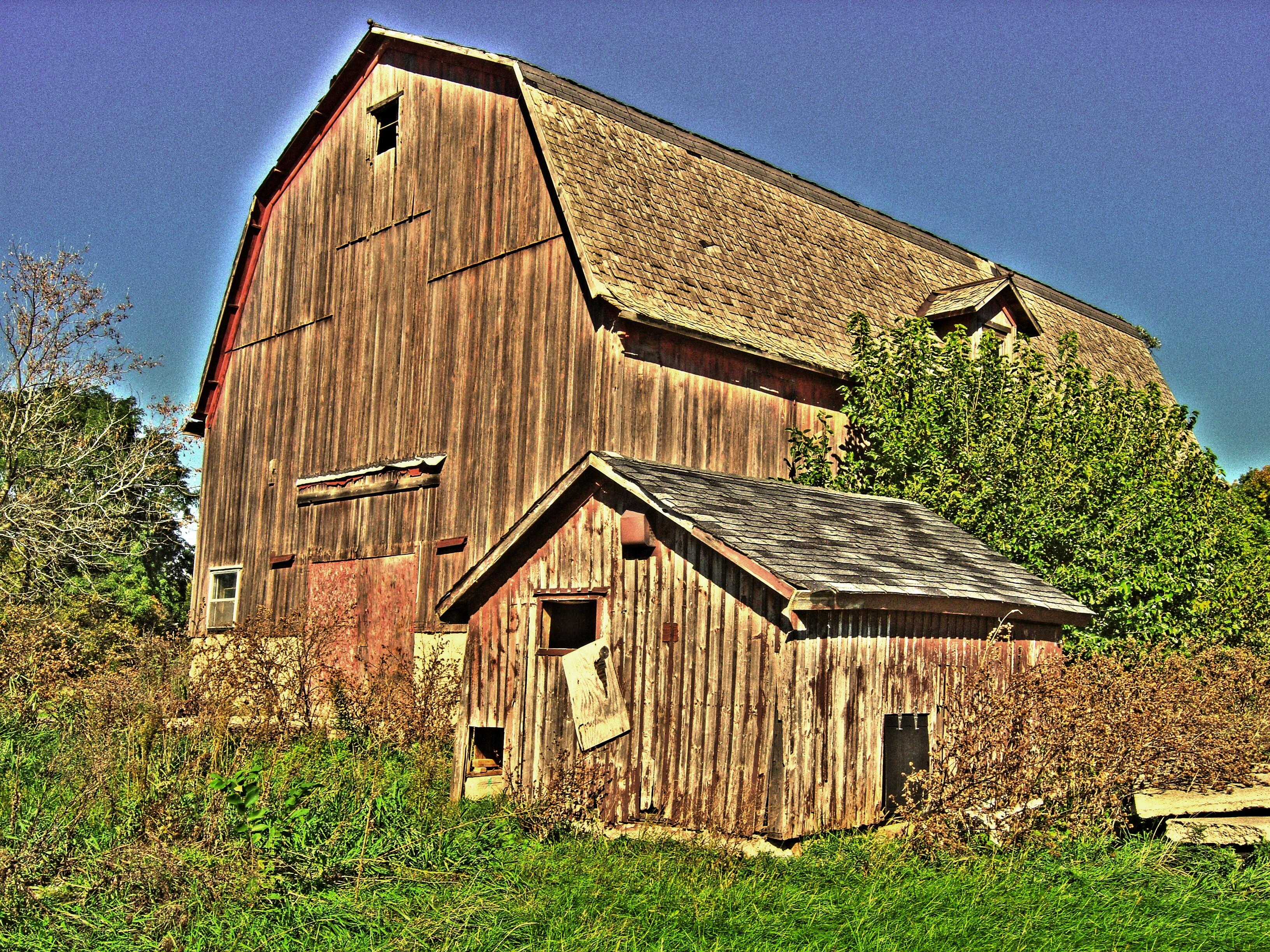 Fotos gratis : granja, techo, edificio, granero, cobertizo, choza ...