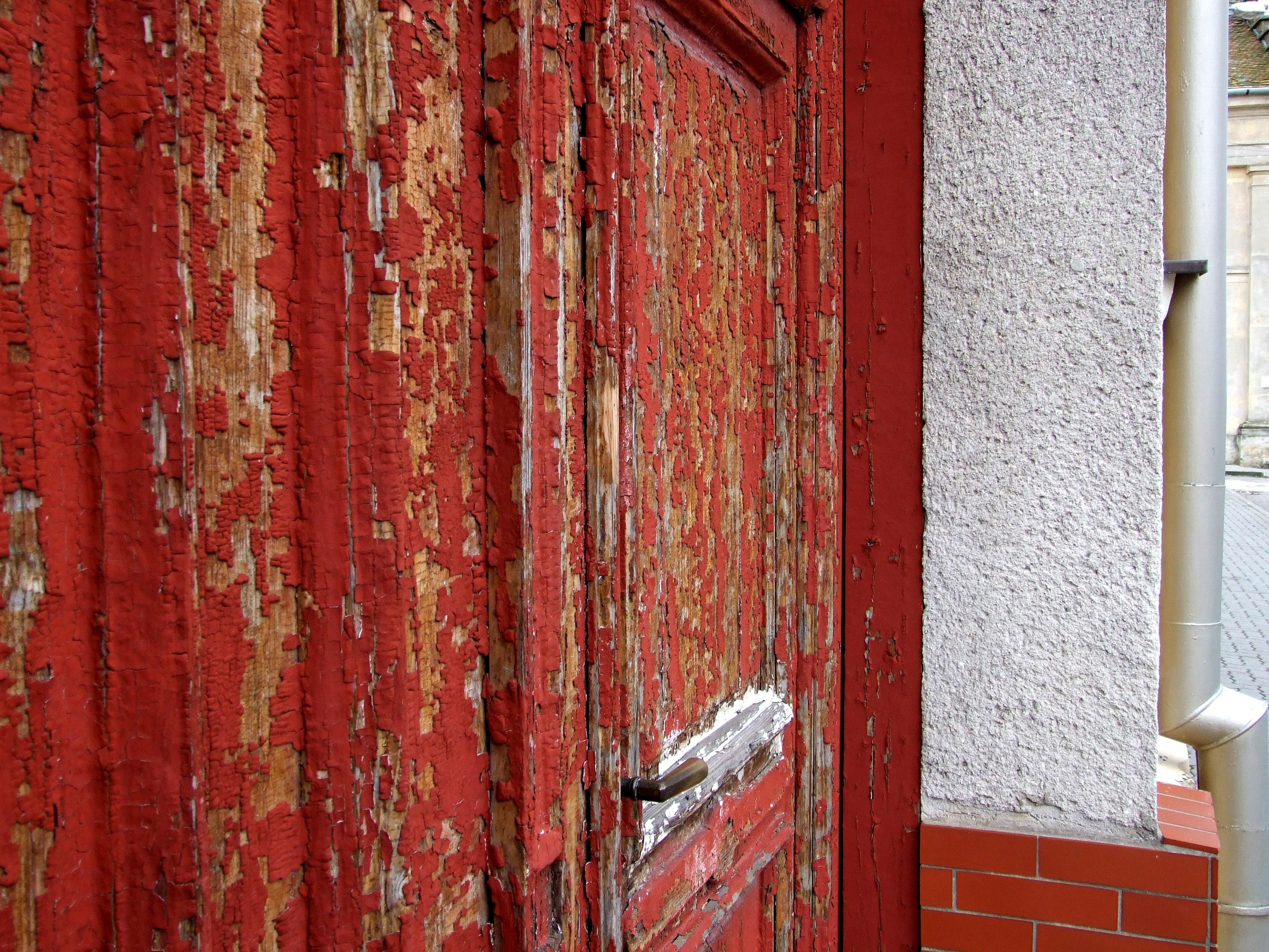 Holz Stock Fenster Alt Mauer Rot Farbe Ziegel Tür Material Innenarchitektur  Mauerwerk Bodenbelag