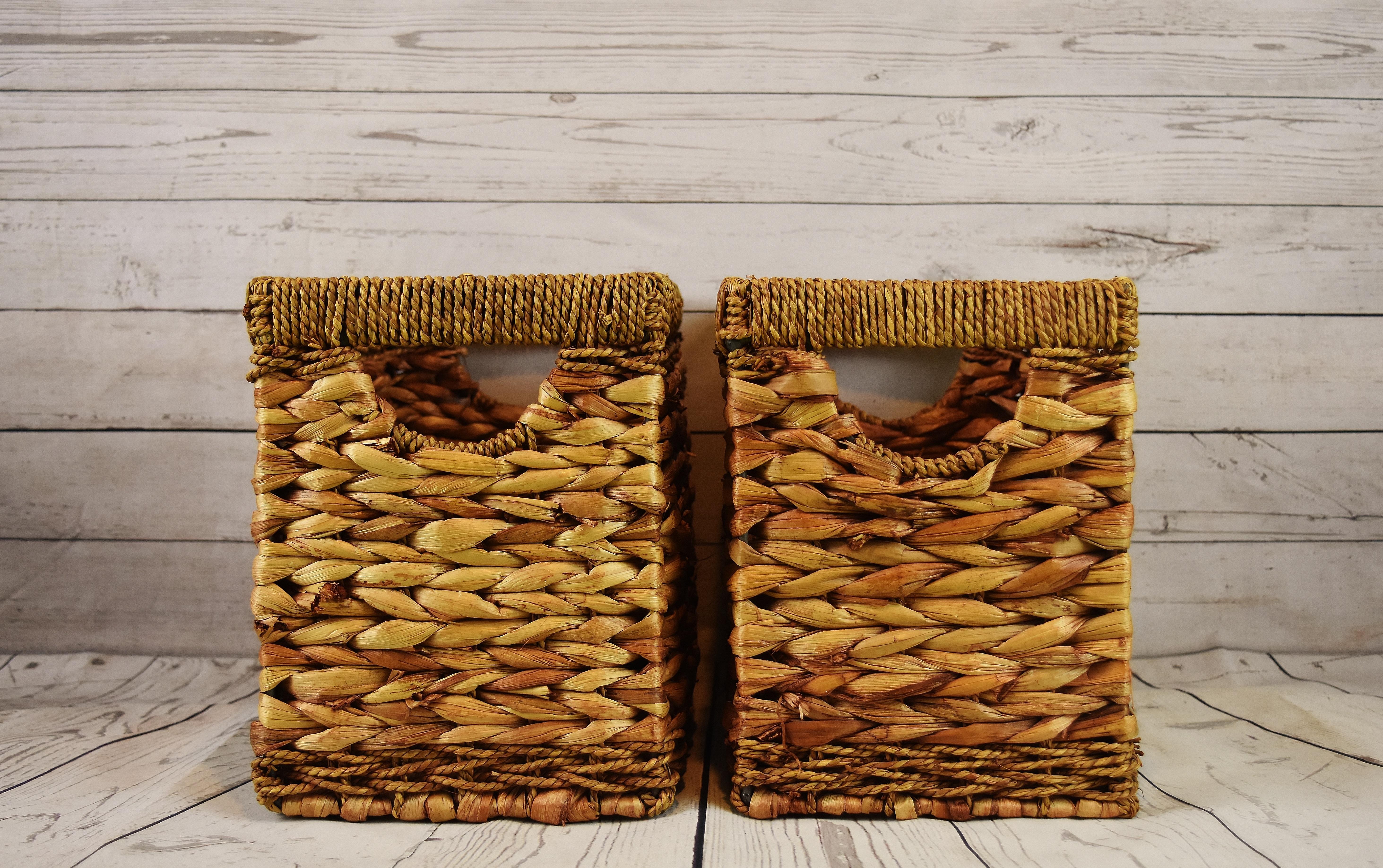 madera comida produce marrn mueble cesta mimbre cestas producto natural jacinto de agua objeto hecho