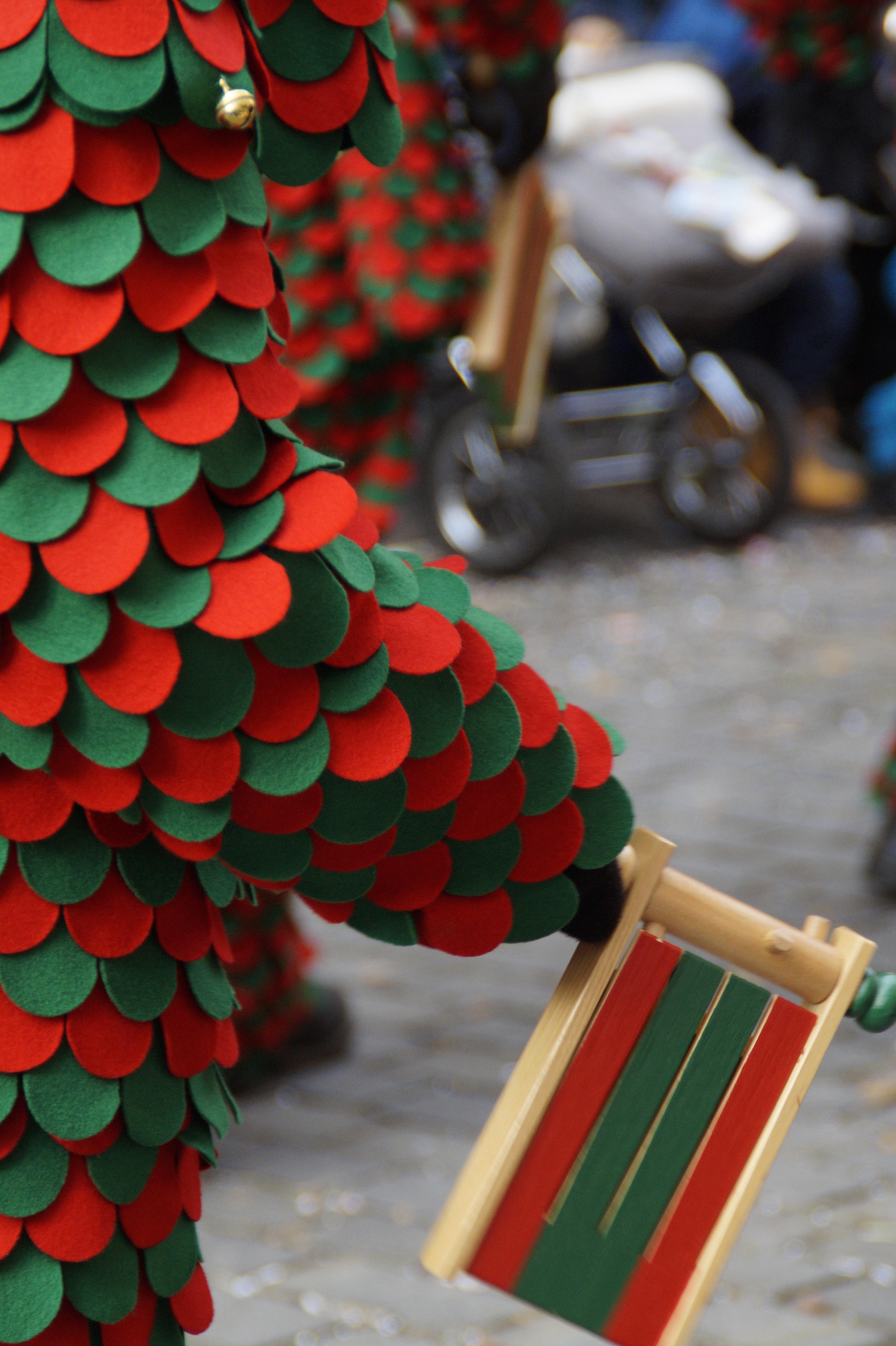 Gambar Kayu Hijau Merah Warna Hari Natal Seni Bentuk