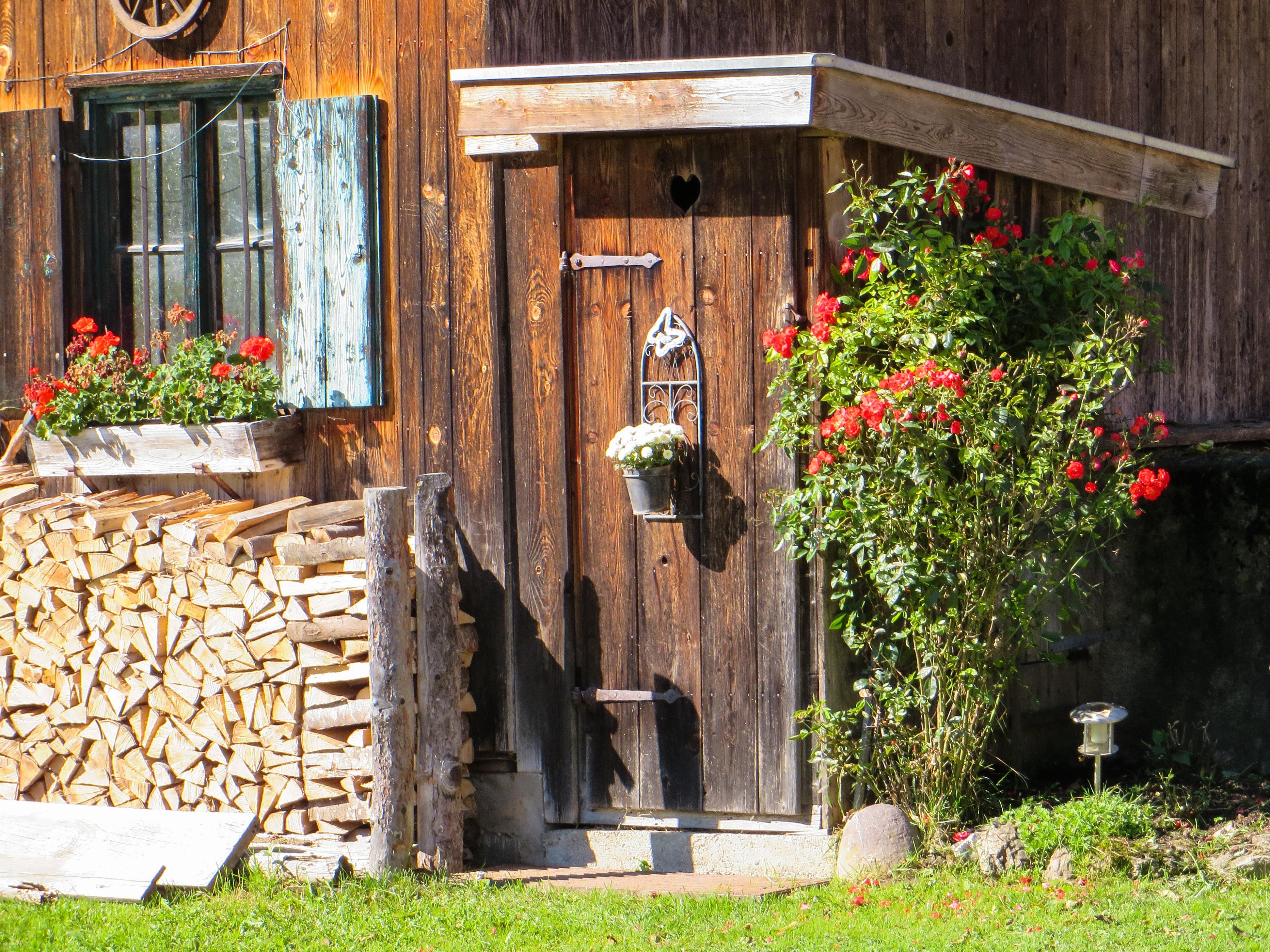 fotos gratis madera casa flor cobertizo coraz n caba a patio interior ba o jard n. Black Bedroom Furniture Sets. Home Design Ideas