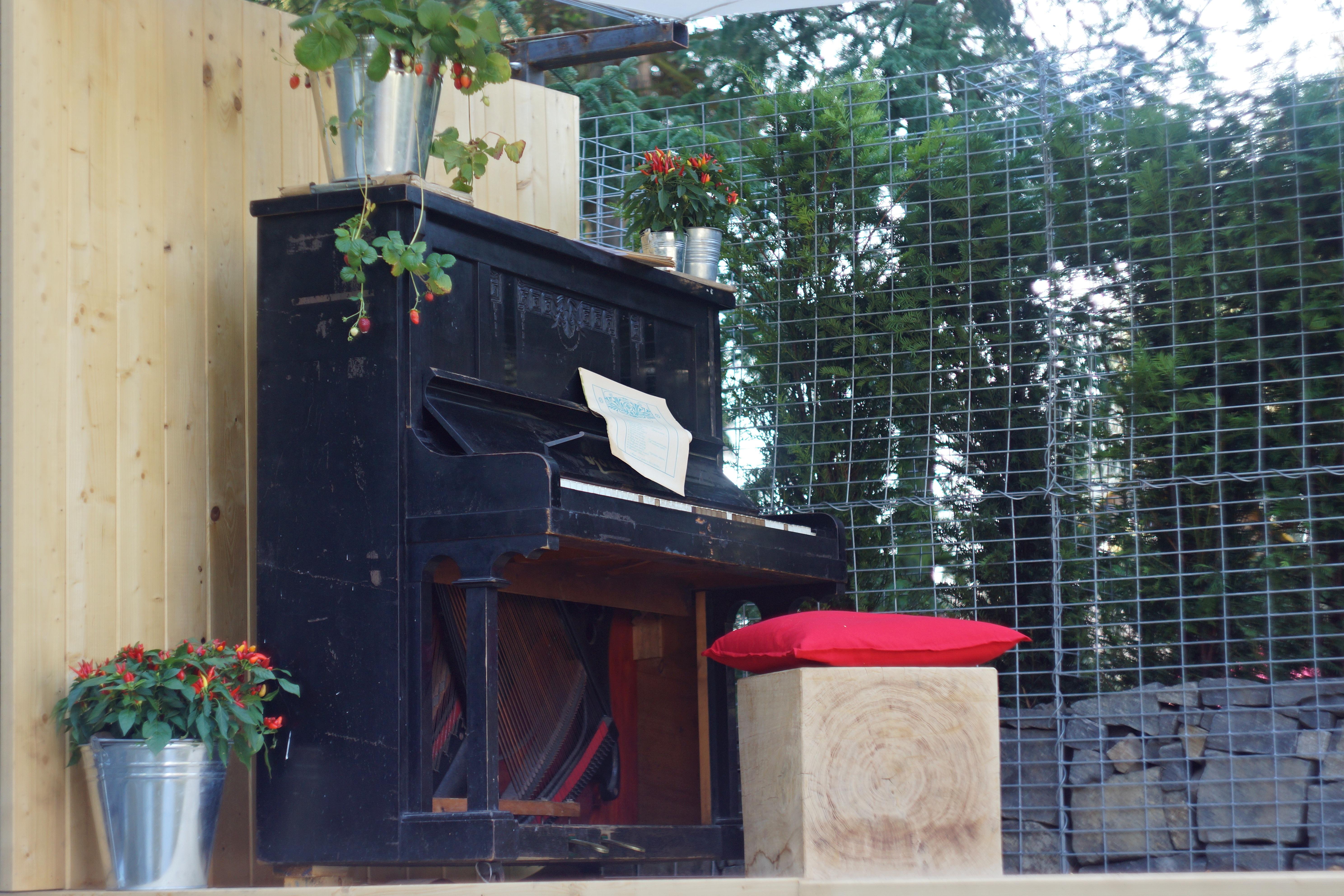 Holz Haus Zuhause Mauer Erholung Dekoration Klavier Fassade Garten Ecke  Inspiration Außenstruktur