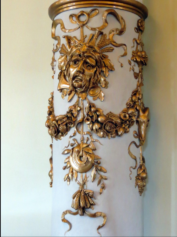 Holz Innere Mauer Säule Metall Möbel Beleuchtung Ornament Maske Messing   Treppe Bronze  Carving Dresden