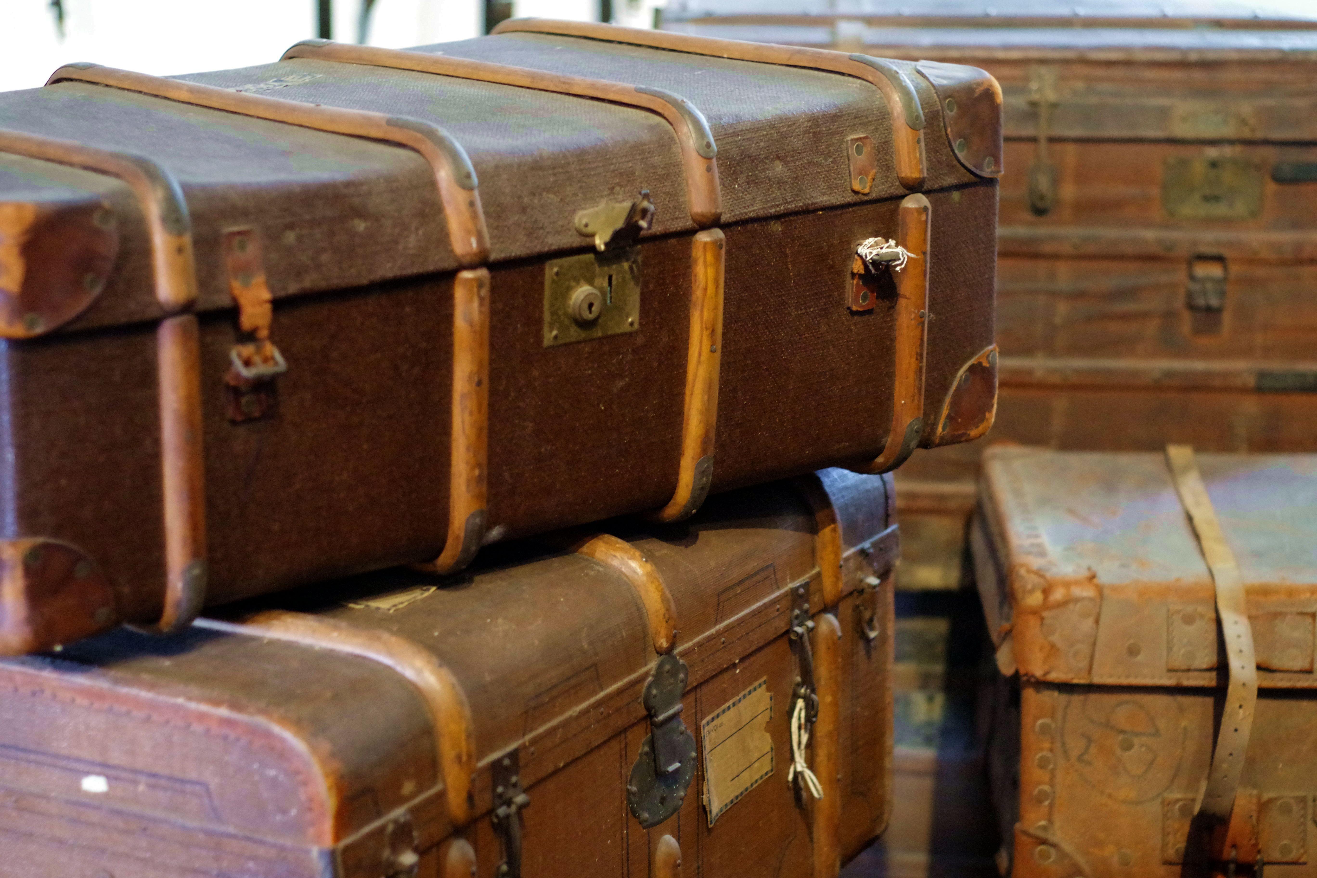 Kostenlose Foto Holz Leder Antiquitat Kofferraum Reise Urlaub