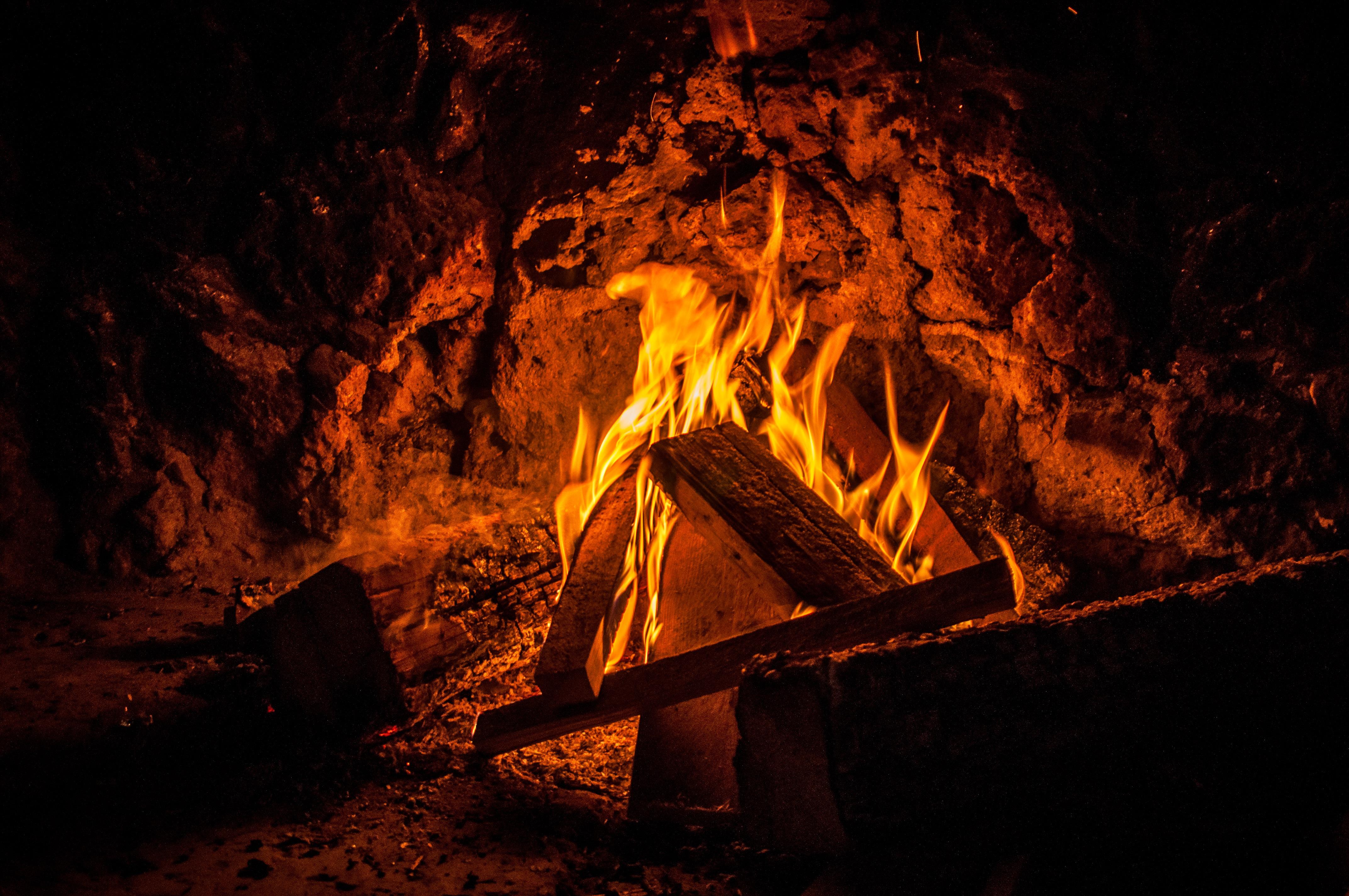 Kostenlose Foto Holz Nacht Bildung Flamme Kamin Dunkelheit