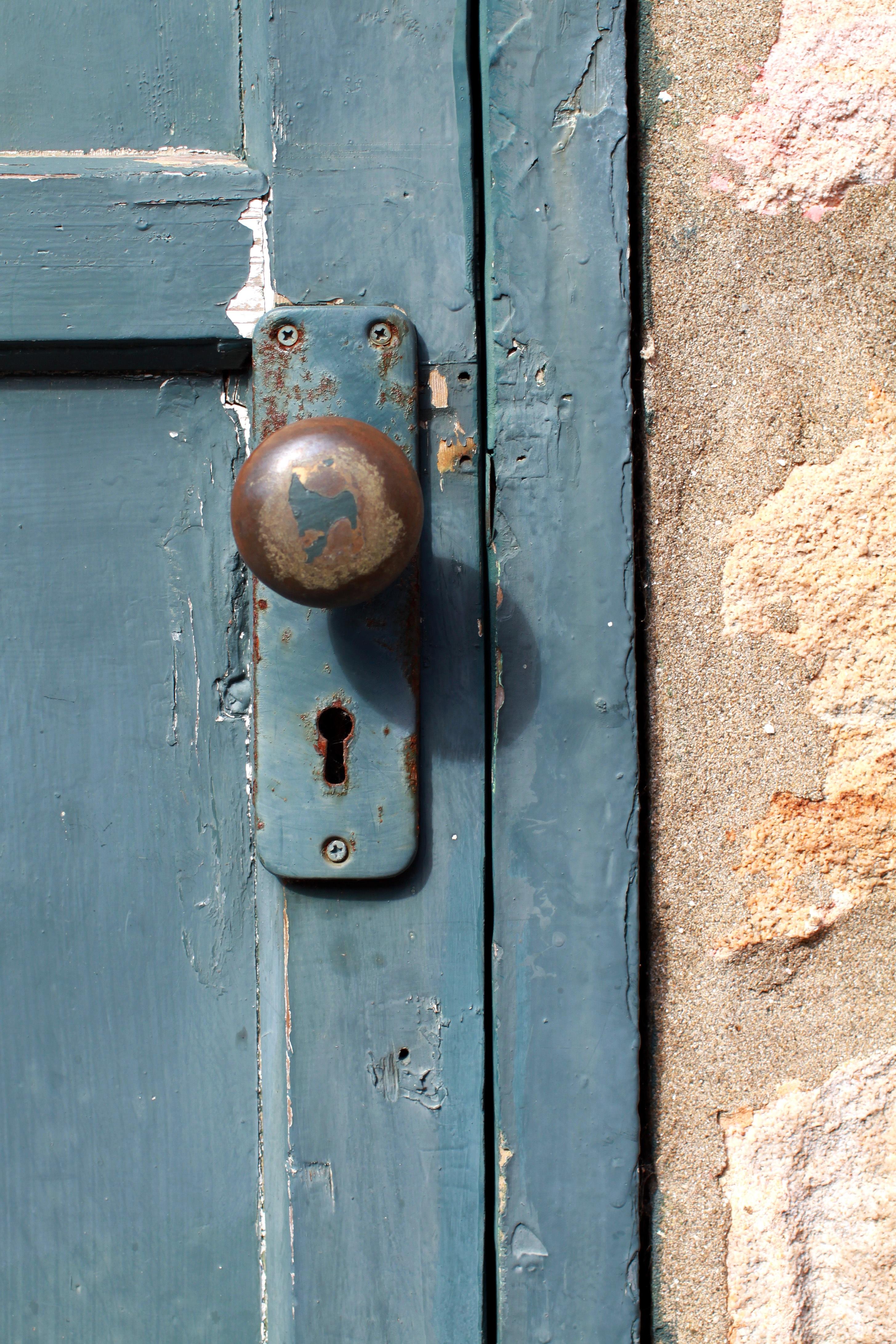 Wood Number Wall Color Ancient Blue Door Iron Lock Taiwan Keyhole Shape