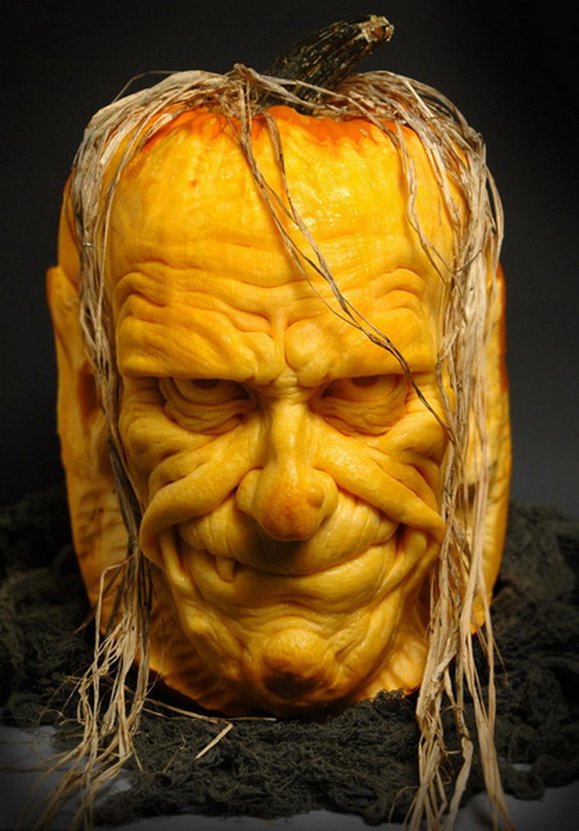 Free images wood statue produce pumpkin halloween yellow