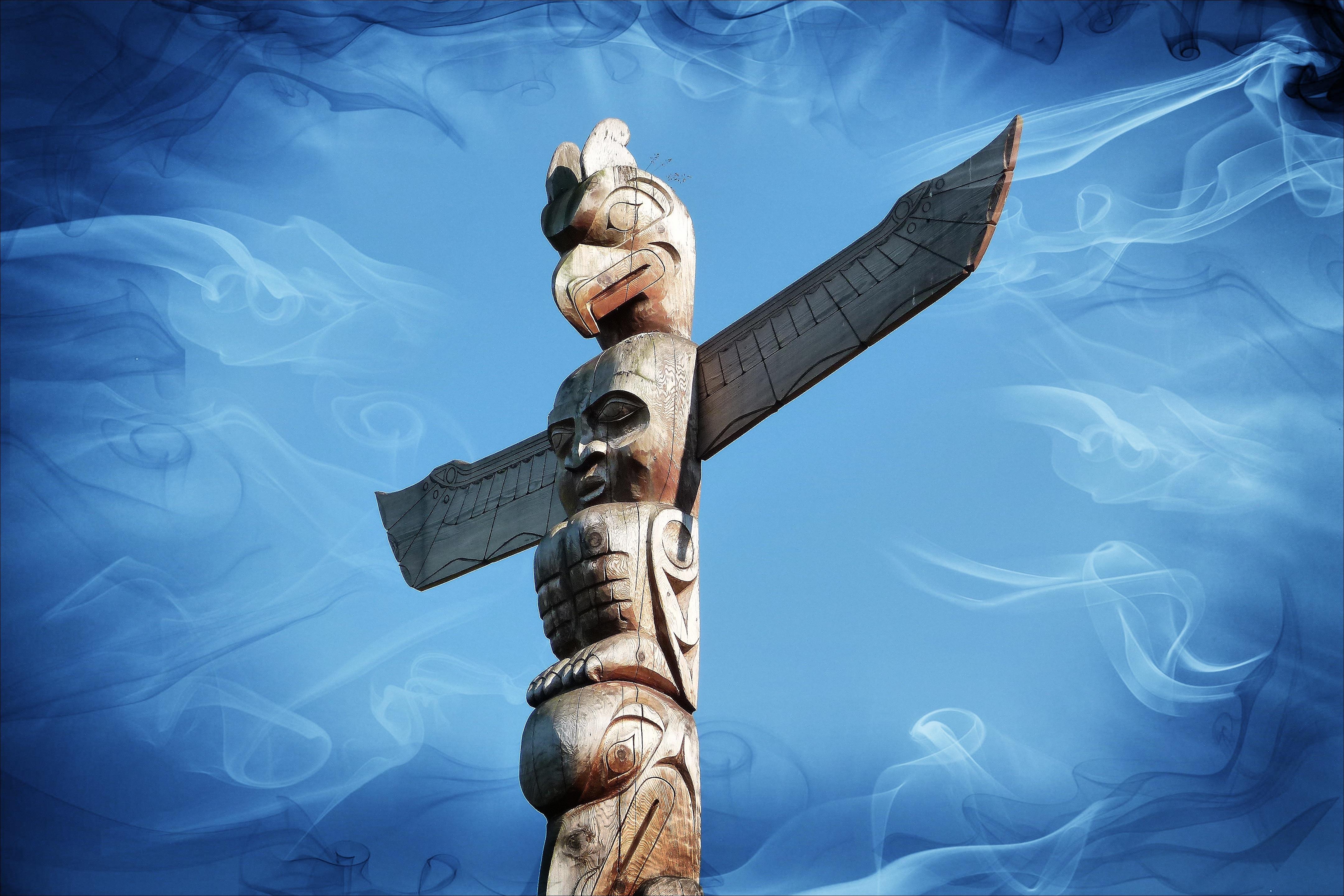 Free Images Wood Symbol Religion Ancient Totem Pole Native