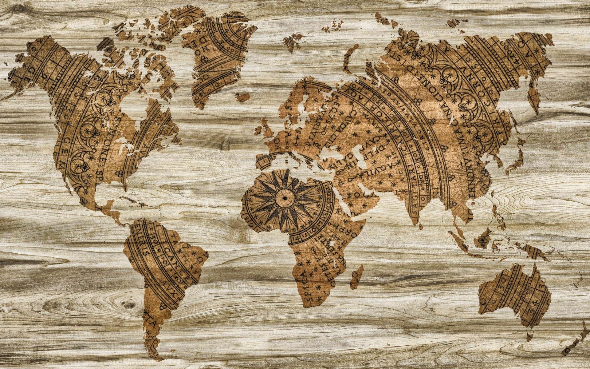 Fotos gratis madera textura br jula papel mapa for Mapa del mundo decoracion