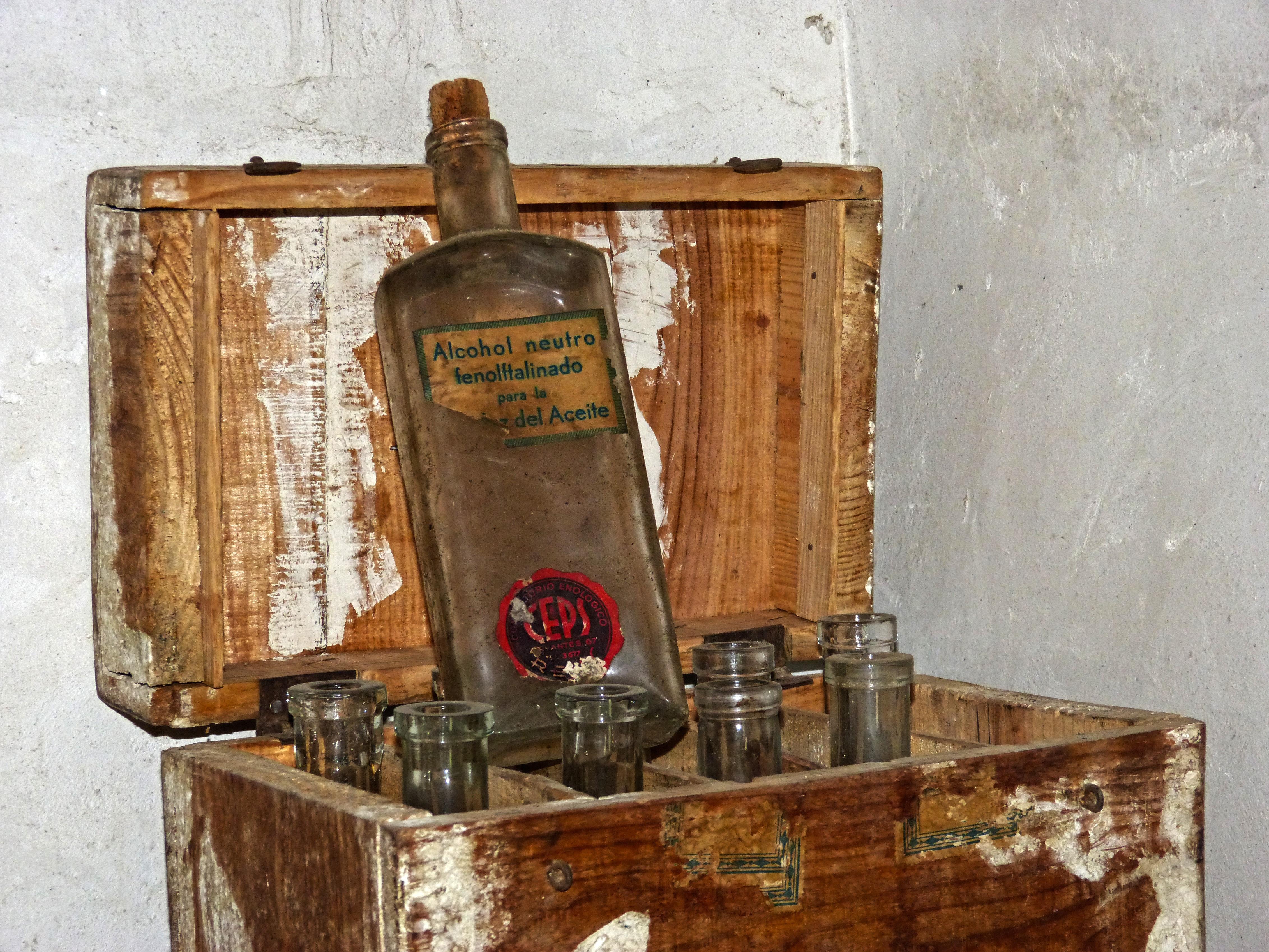 Wood Vintage Antique Old Shelf Furniture Bottles Lab Chemistry Chemical  Substances Man Made Object