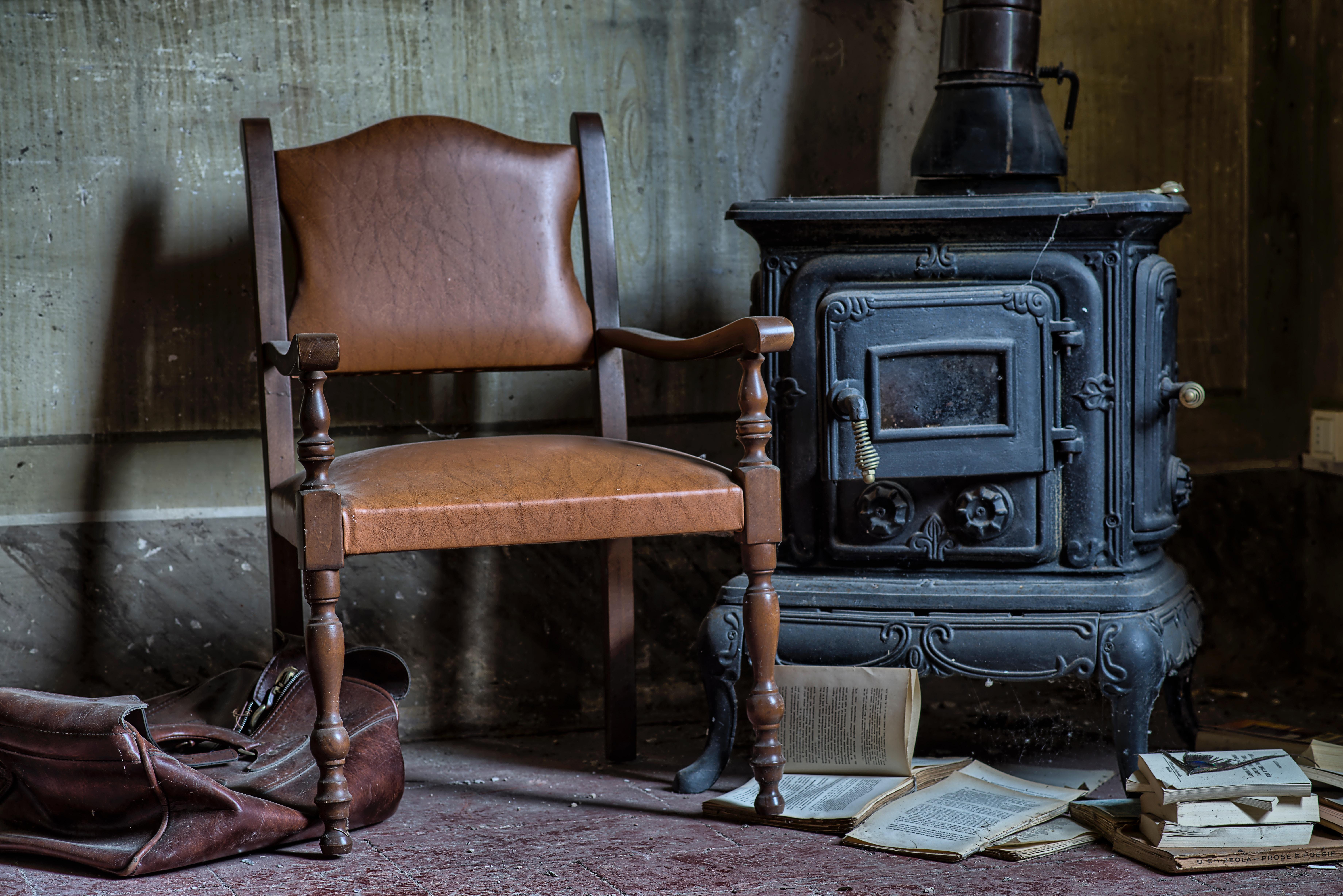Free wood vintage chair furniture room books