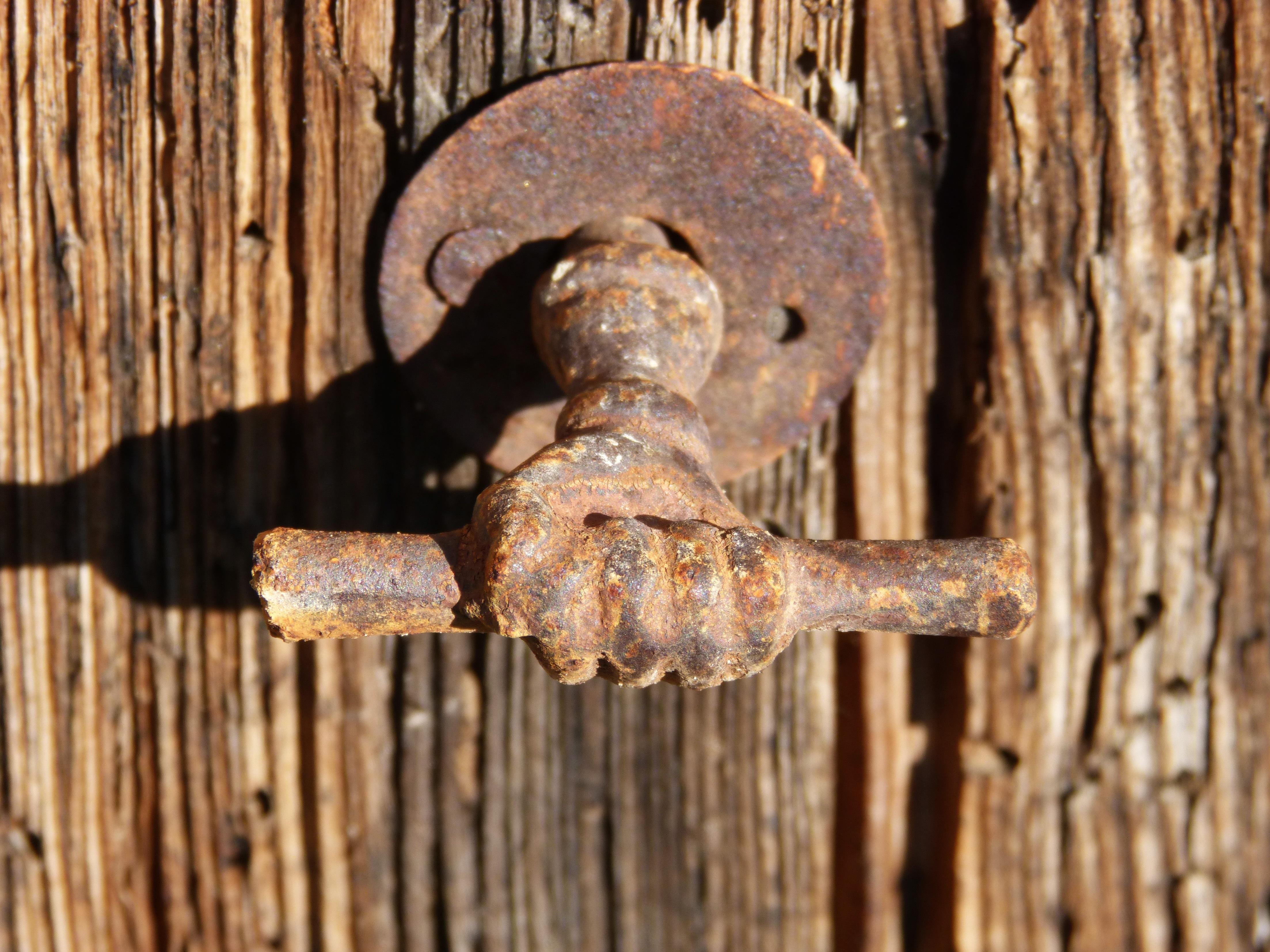 Free Images : wood, vintage, old, door, handle, sculpture, iron ...