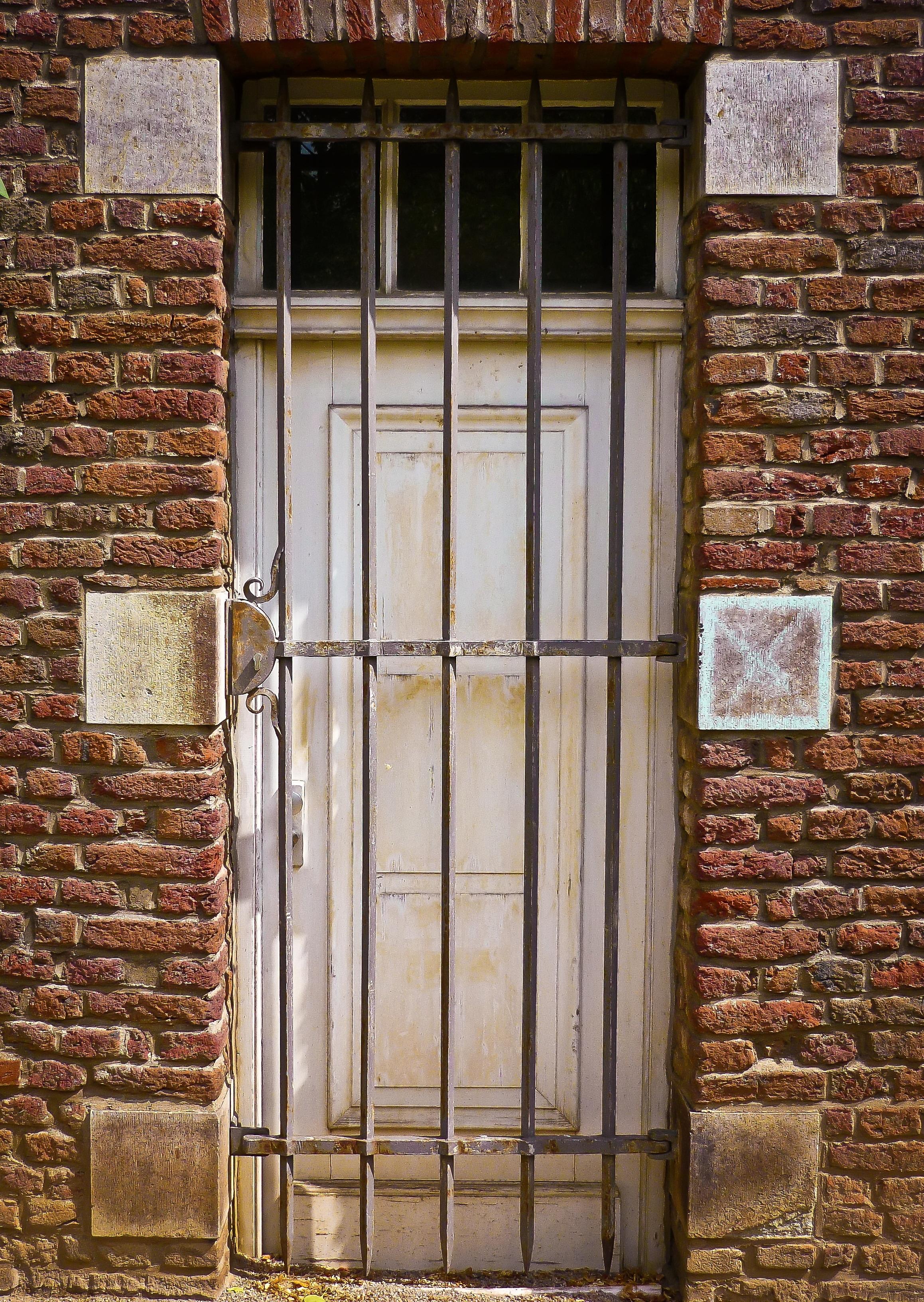Wood Window Building Old Wall Stone Metal Facade Brick Door Material  Interior Design Grid Brickwork Iron