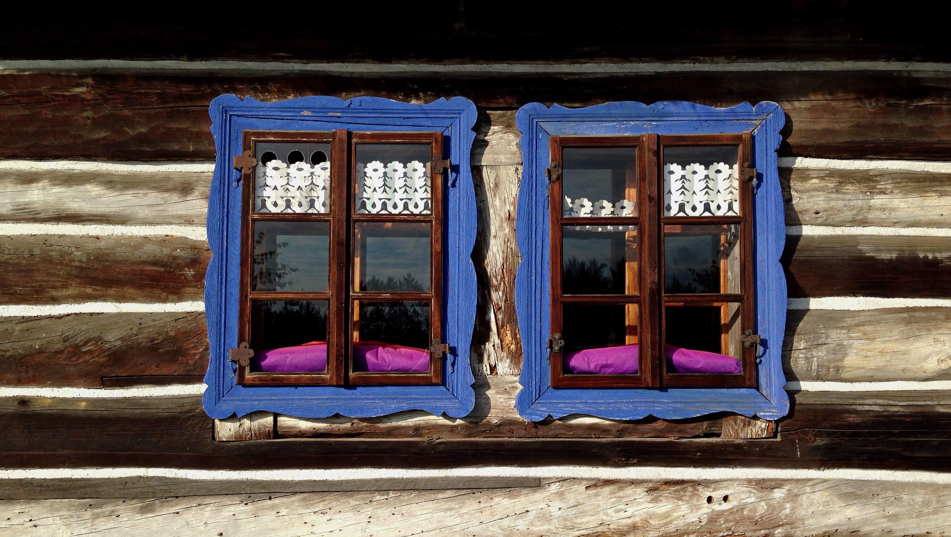 Kostenlose foto : Holz, Hütte, Farbe, blau, Polen, Bilderrahmen, das ...