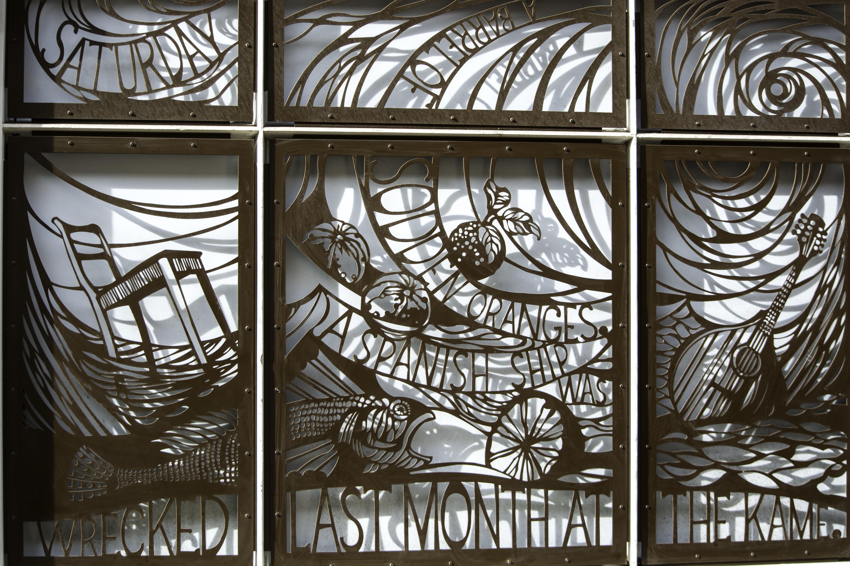 Fotoğraf Ahşap Pencere Bardak Duvar Malzeme Vitray
