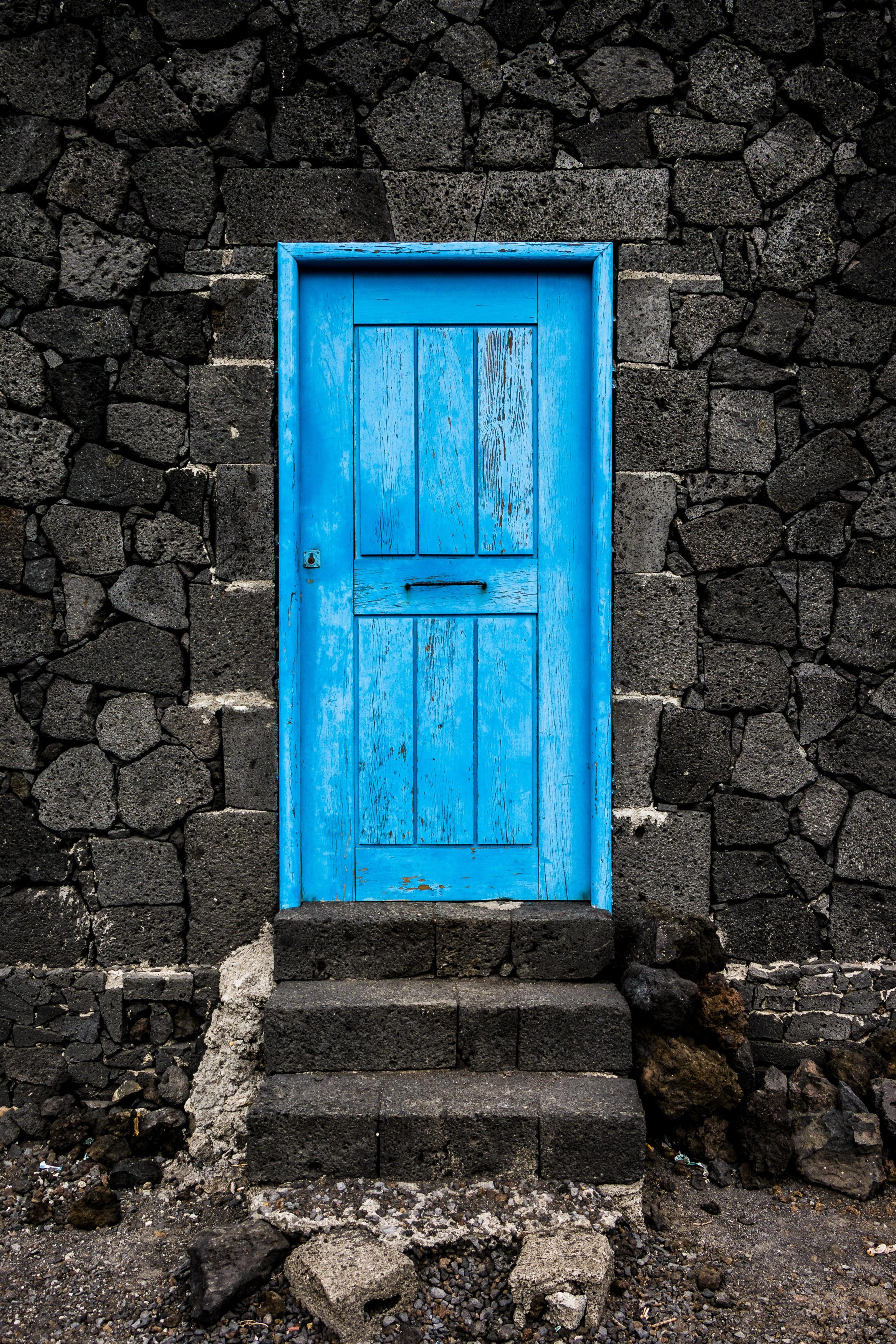 Fotoğraf Ahşap Pencere Eski Duvar Yeşil Renk Mavi