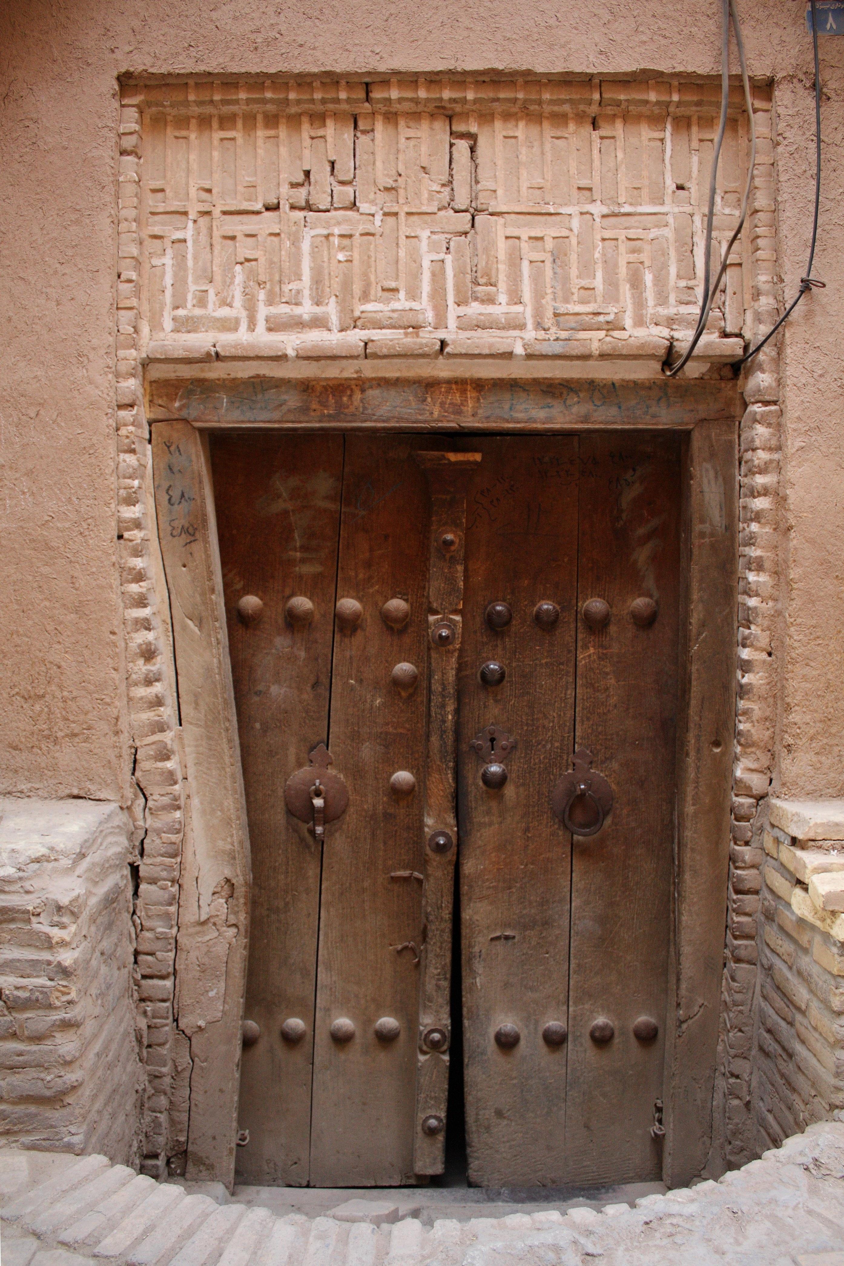 Puertas antiguas de madera puertas doble antigua de for Puertas interiores antiguas madera
