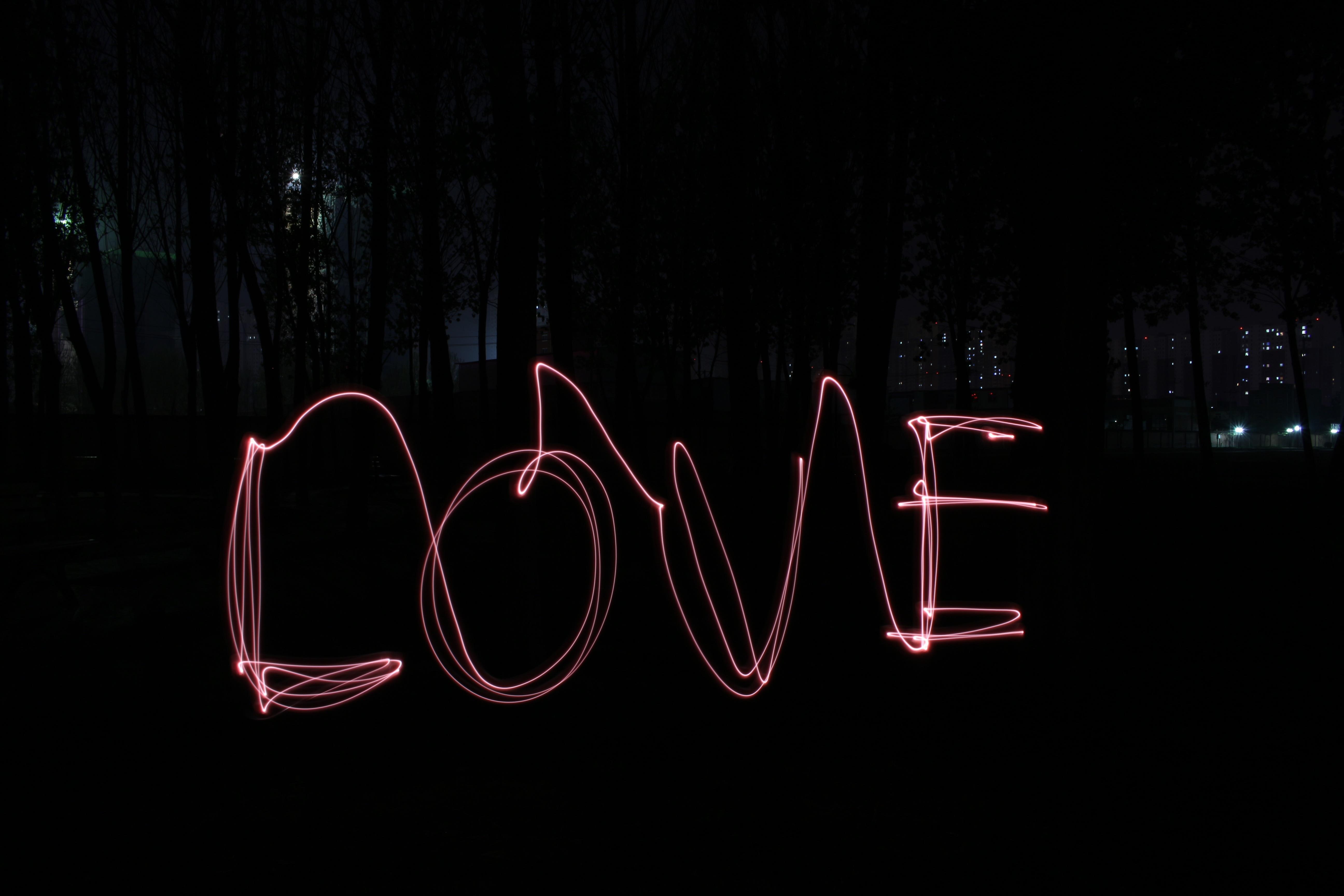 Gambar Kata Malam Jumlah Cinta Garis Merah Kegelapan