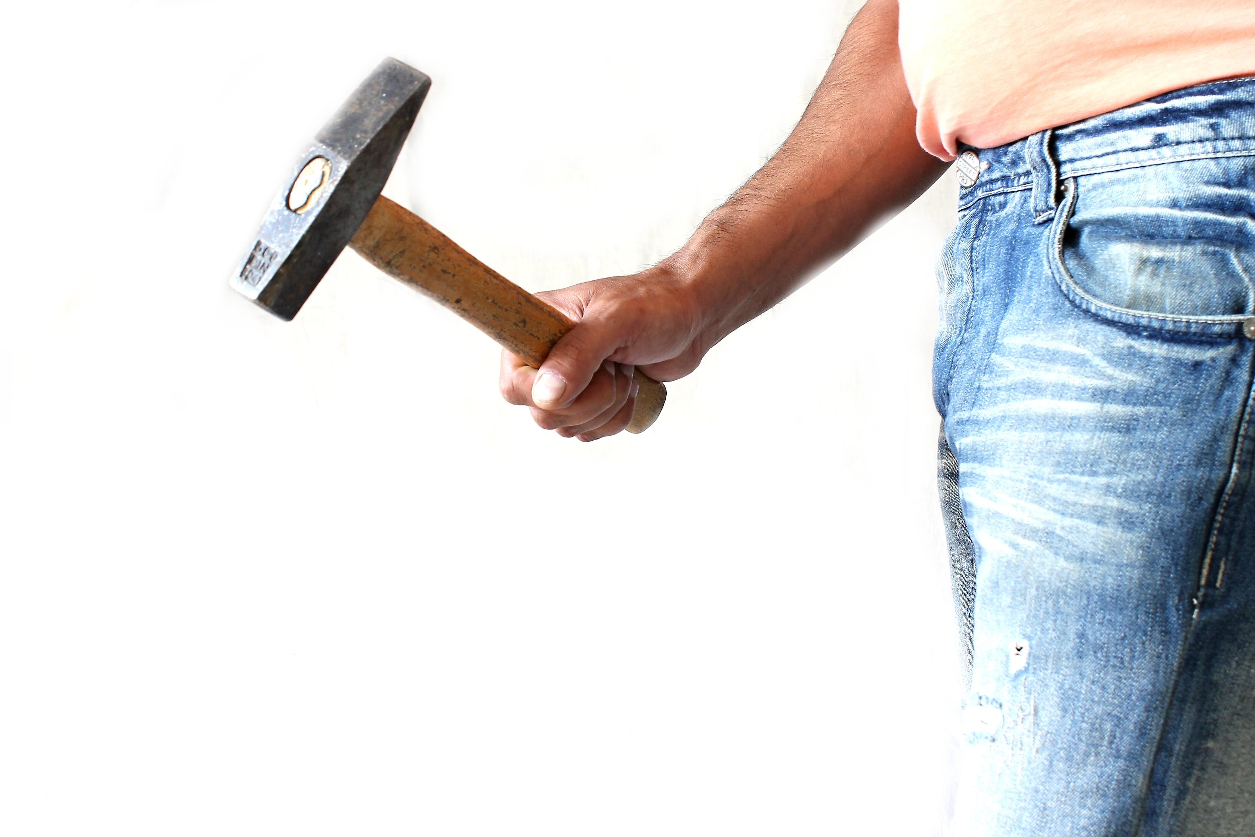 asqueroso blanco trabajo de mano