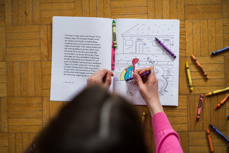 Fotos gratis : escritura, libro, lápiz de color, colorante, art ...