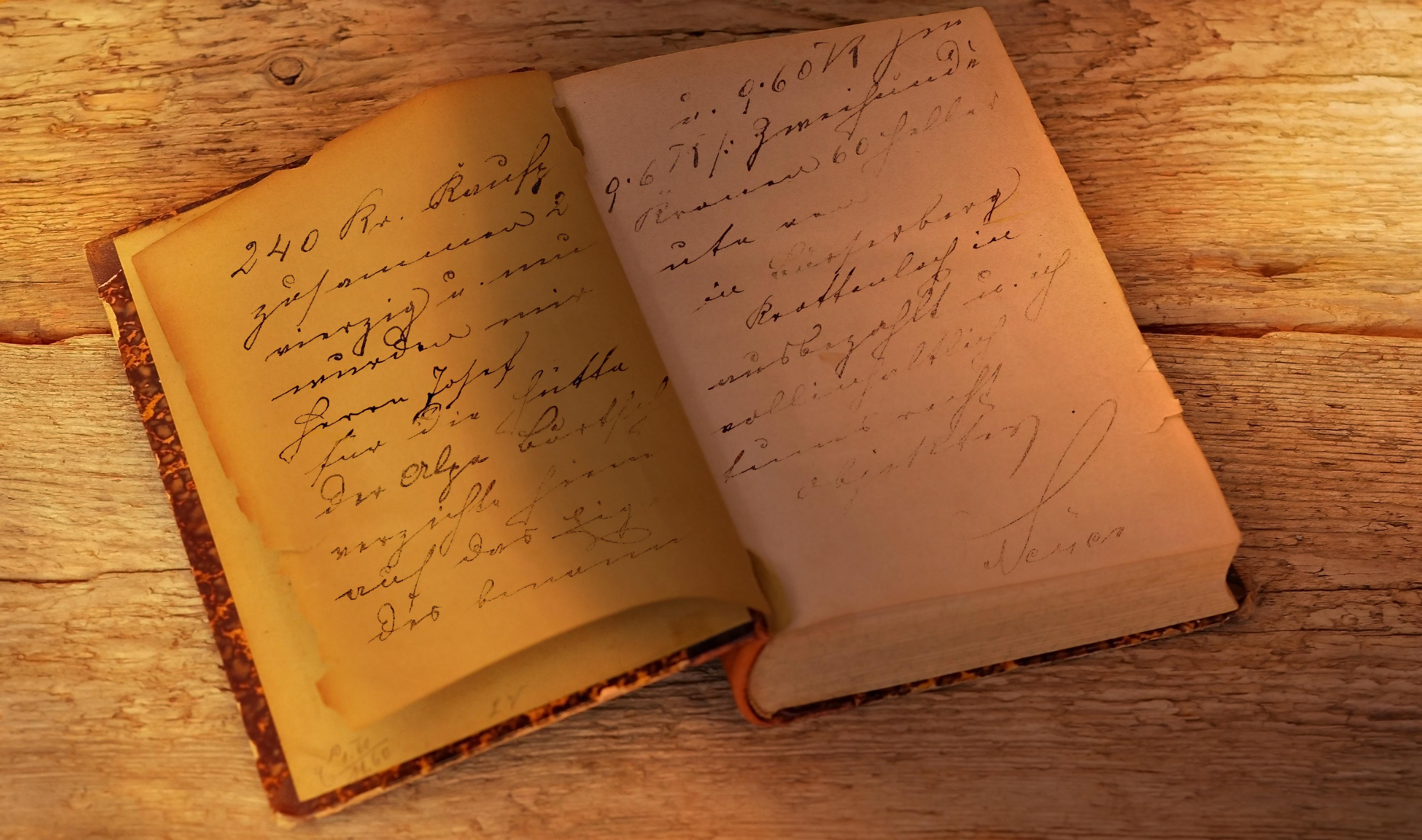 Kostenlose foto : Schreiben, Buch, Holz, Jahrgang, Antiquität, alt ...