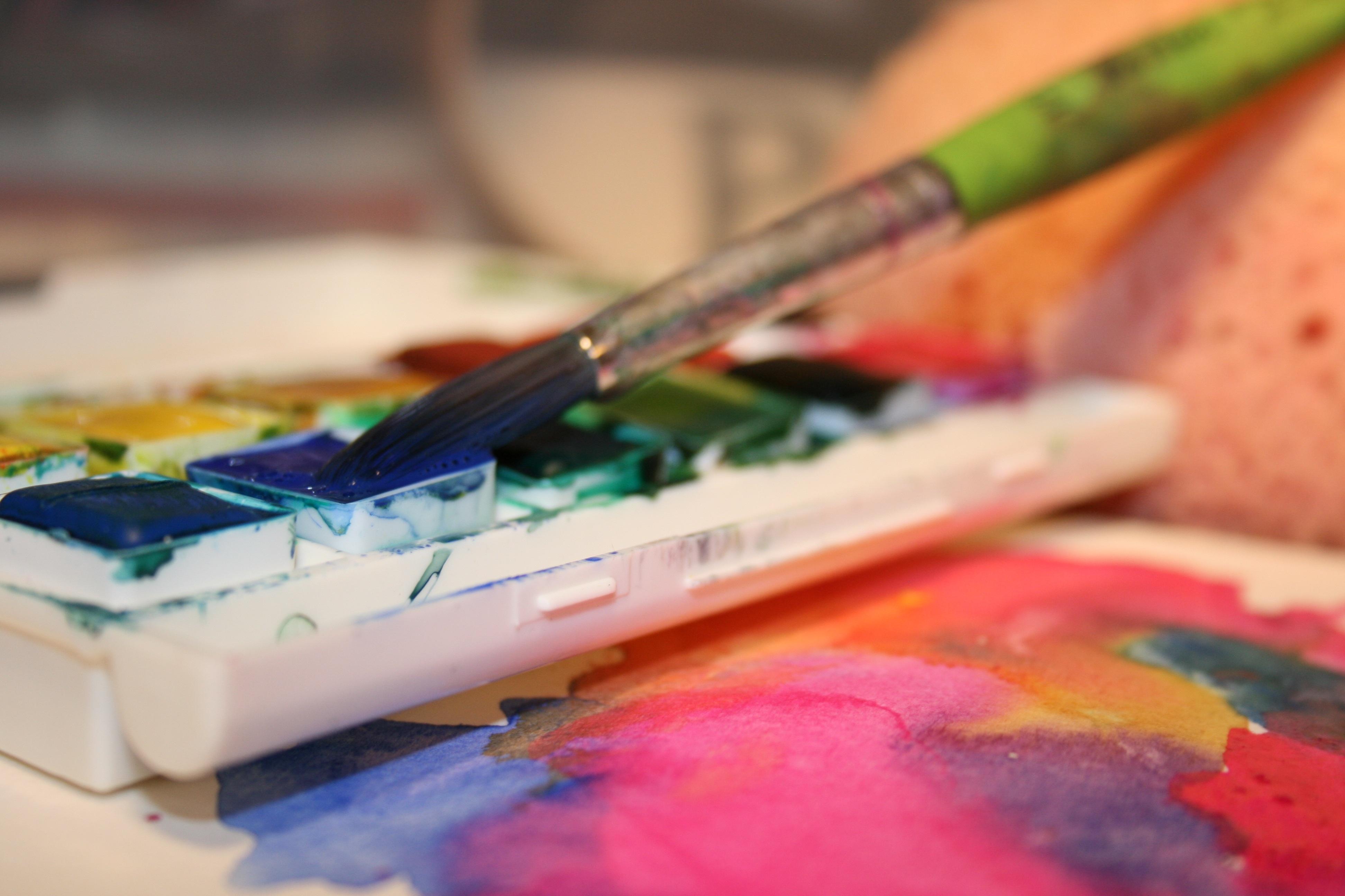Fotoğraf Yazı Fırça Renk Boya Suluboya Kapatmak Imge çekmek