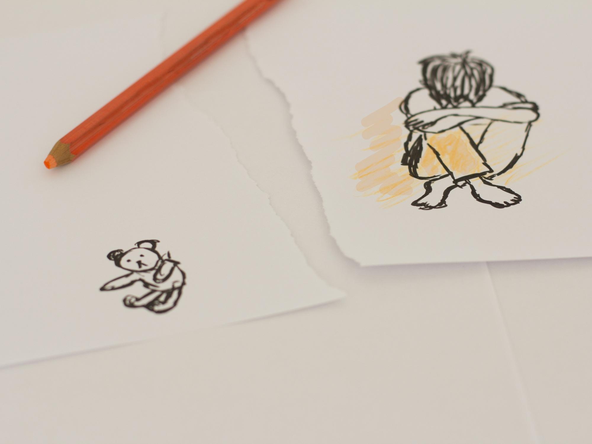 Gambar Penulisan Tangan Sendirian Pola Anak Kesepian Merek