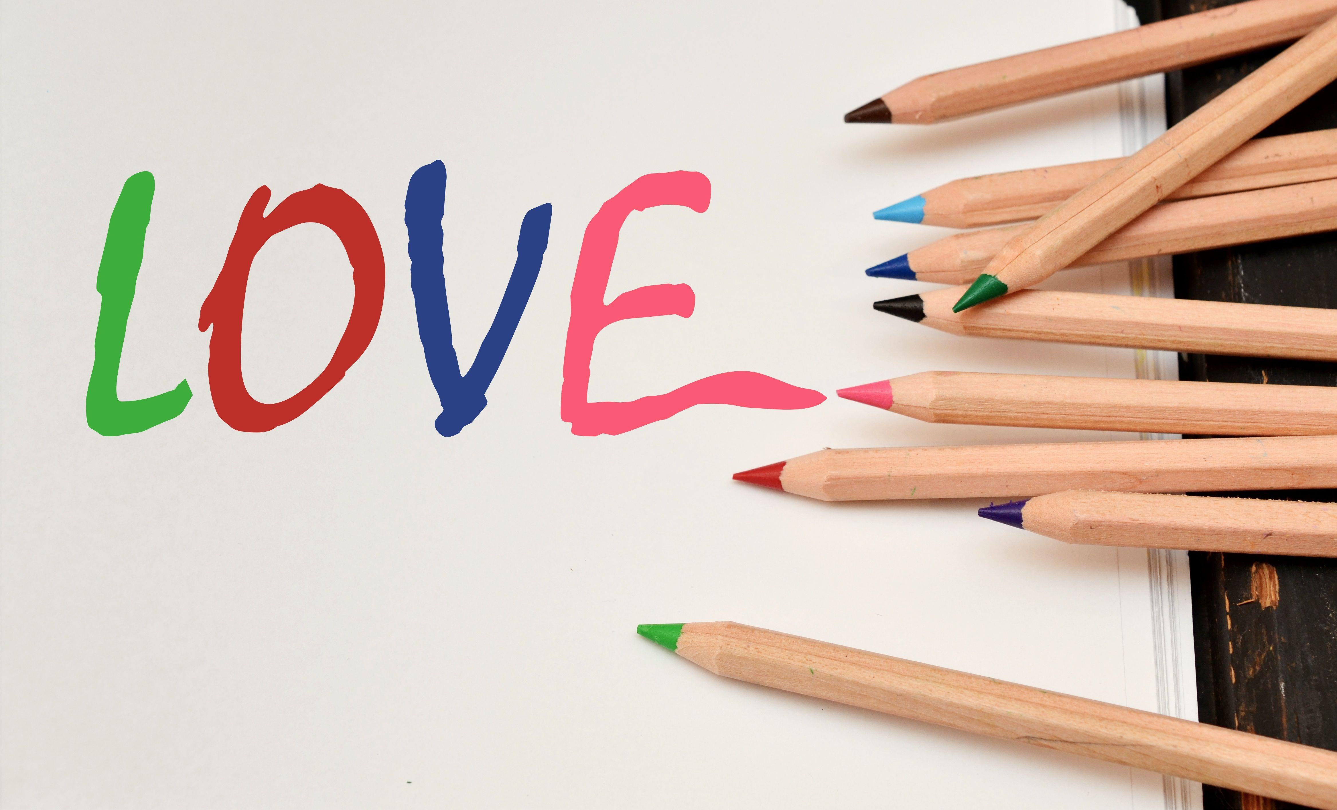 Gambar Penulisan Tangan Pensil Cinta Jari Surat Romantis