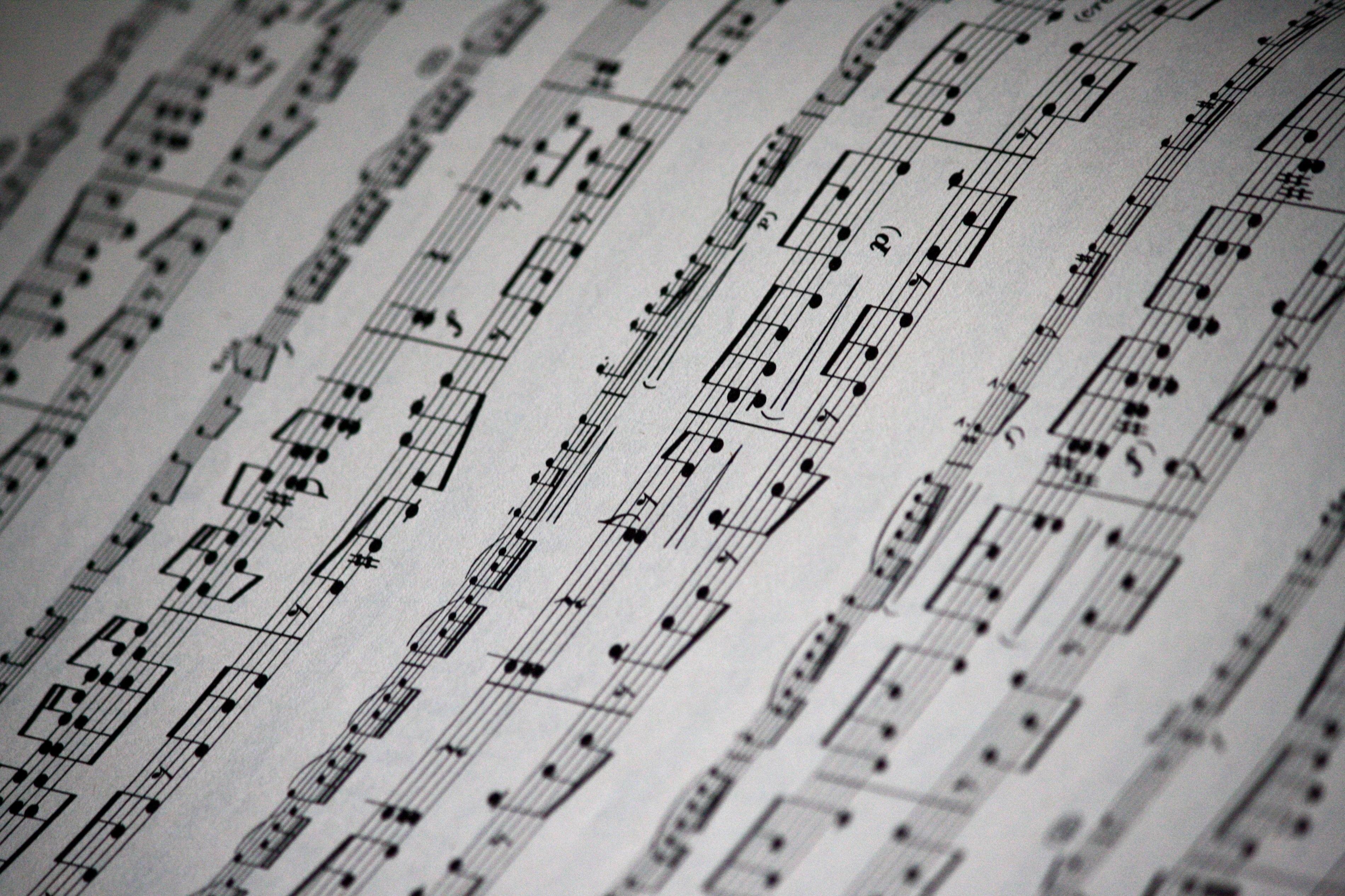 Tapete Zeitung kostenlose foto schreiben musik schwarz und weiß textur